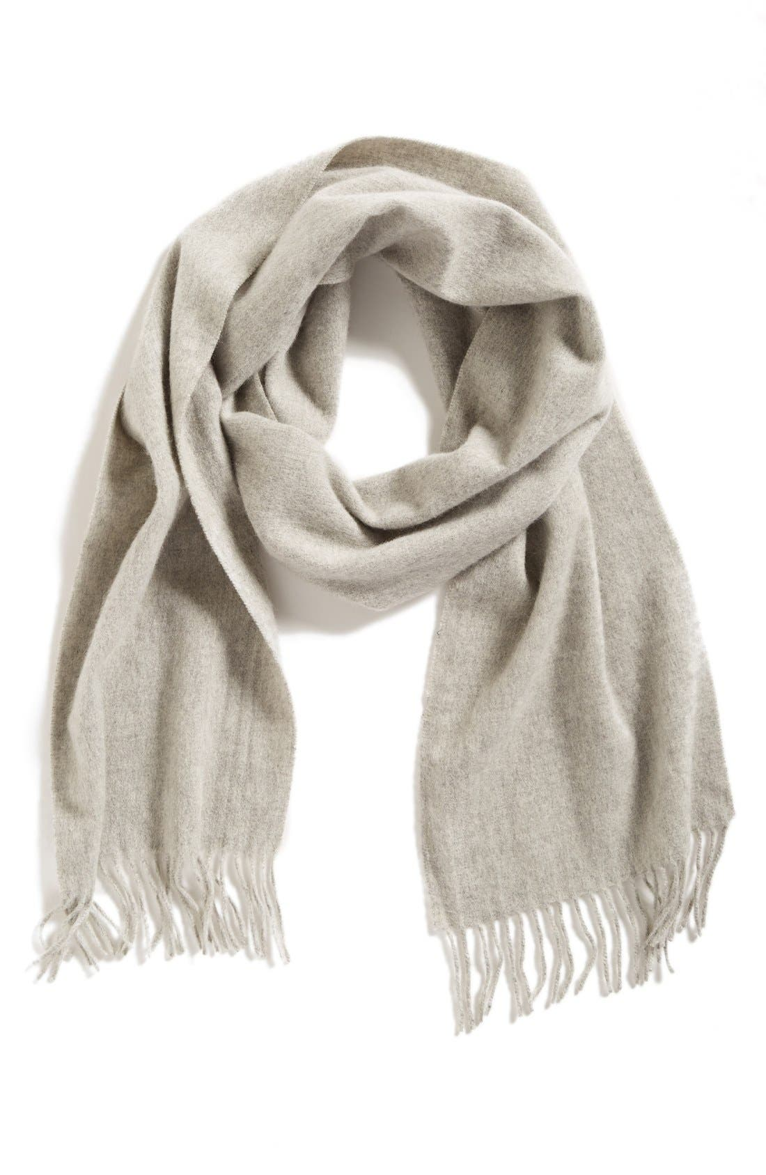 Solid Woven Cashmere Scarf,                             Main thumbnail 3, color,