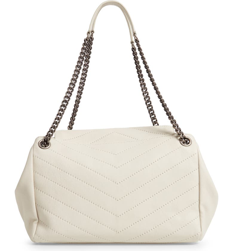 46e39a61882 Saint Laurent Nolita Large Monogram Ysl Double Chain Shoulder Bag In White
