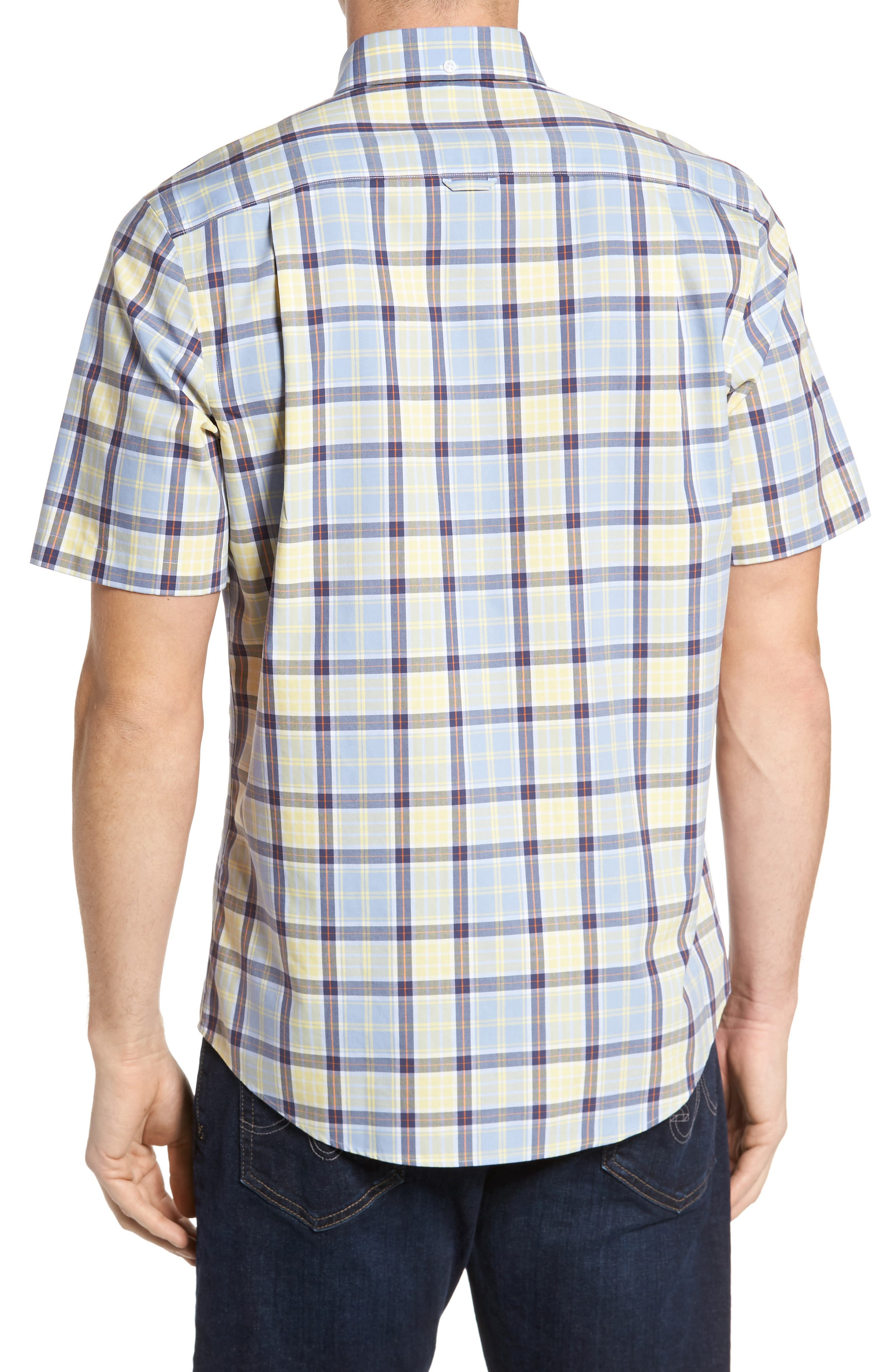 Smartcare<sup>™</sup> Regular Fit Plaid Sport Shirt,                             Alternate thumbnail 7, color,