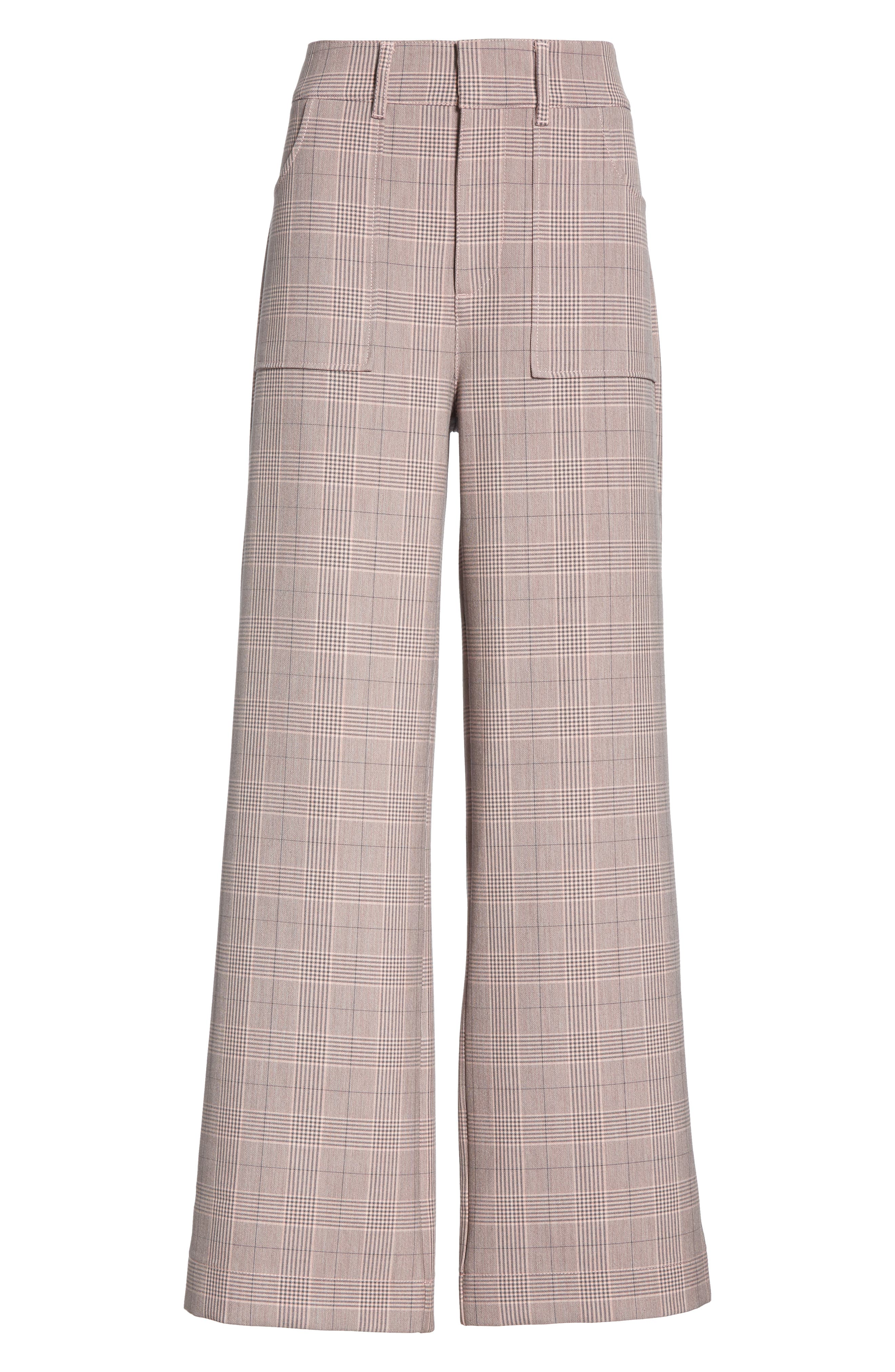 GANNI,                             Suiting Pants,                             Alternate thumbnail 6, color,                             SILVER PINK 499