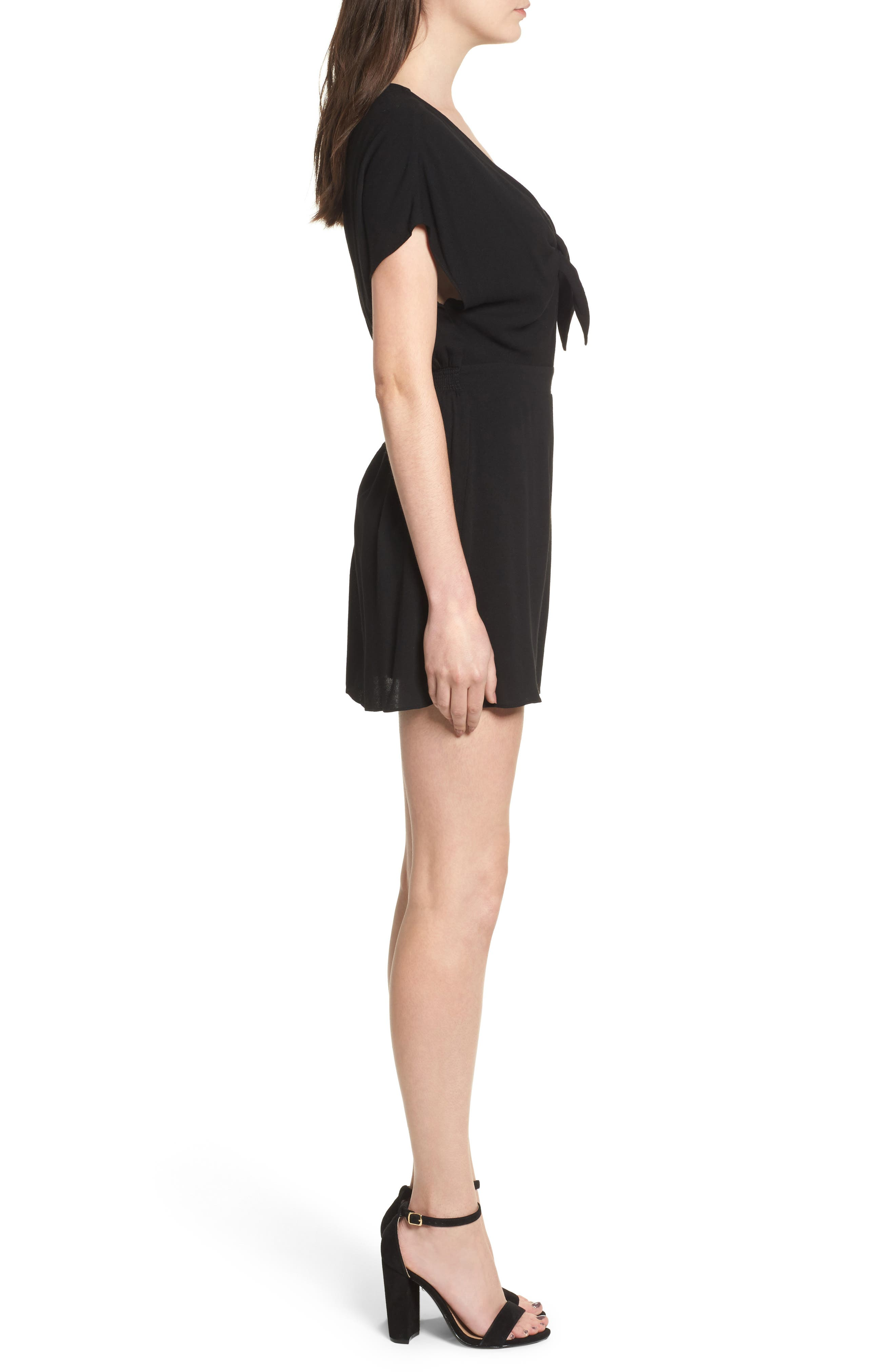 Knotted Romper,                             Alternate thumbnail 6, color,