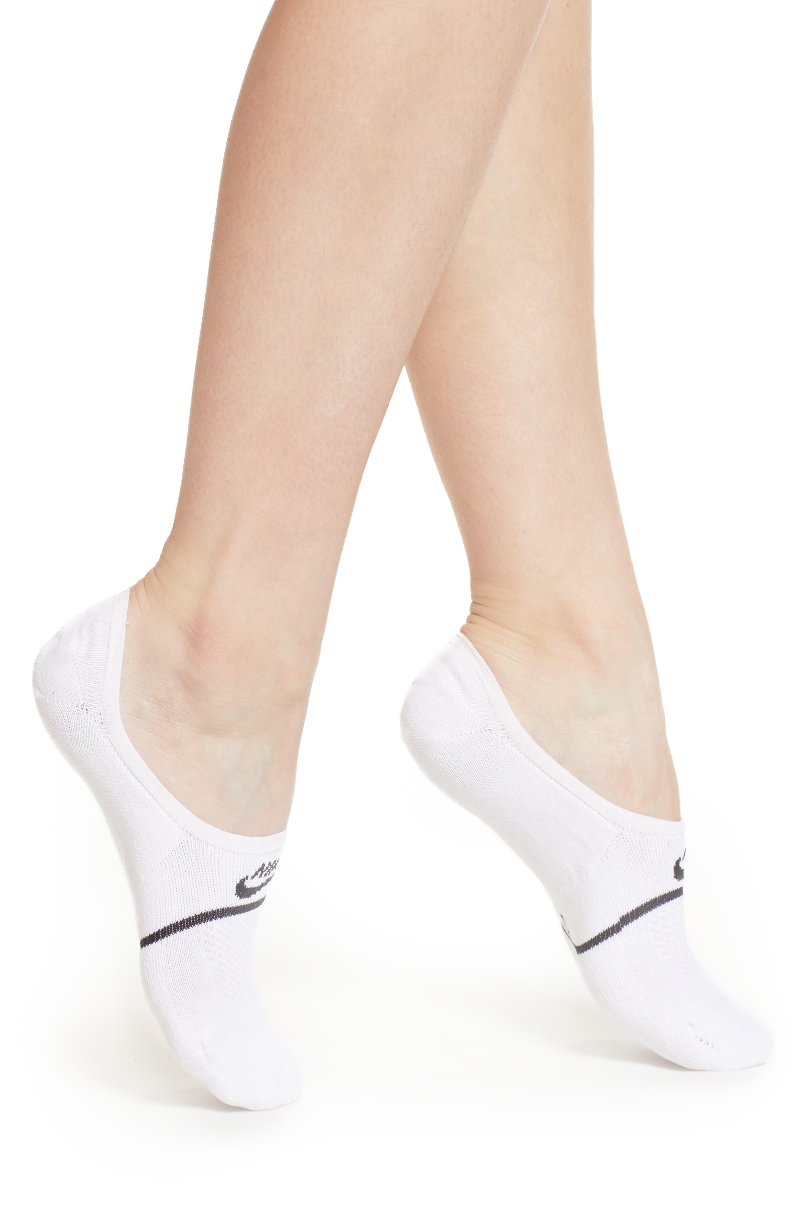 2-Pack Snkr Sox Essential No Show Socks in White/ Black/ White