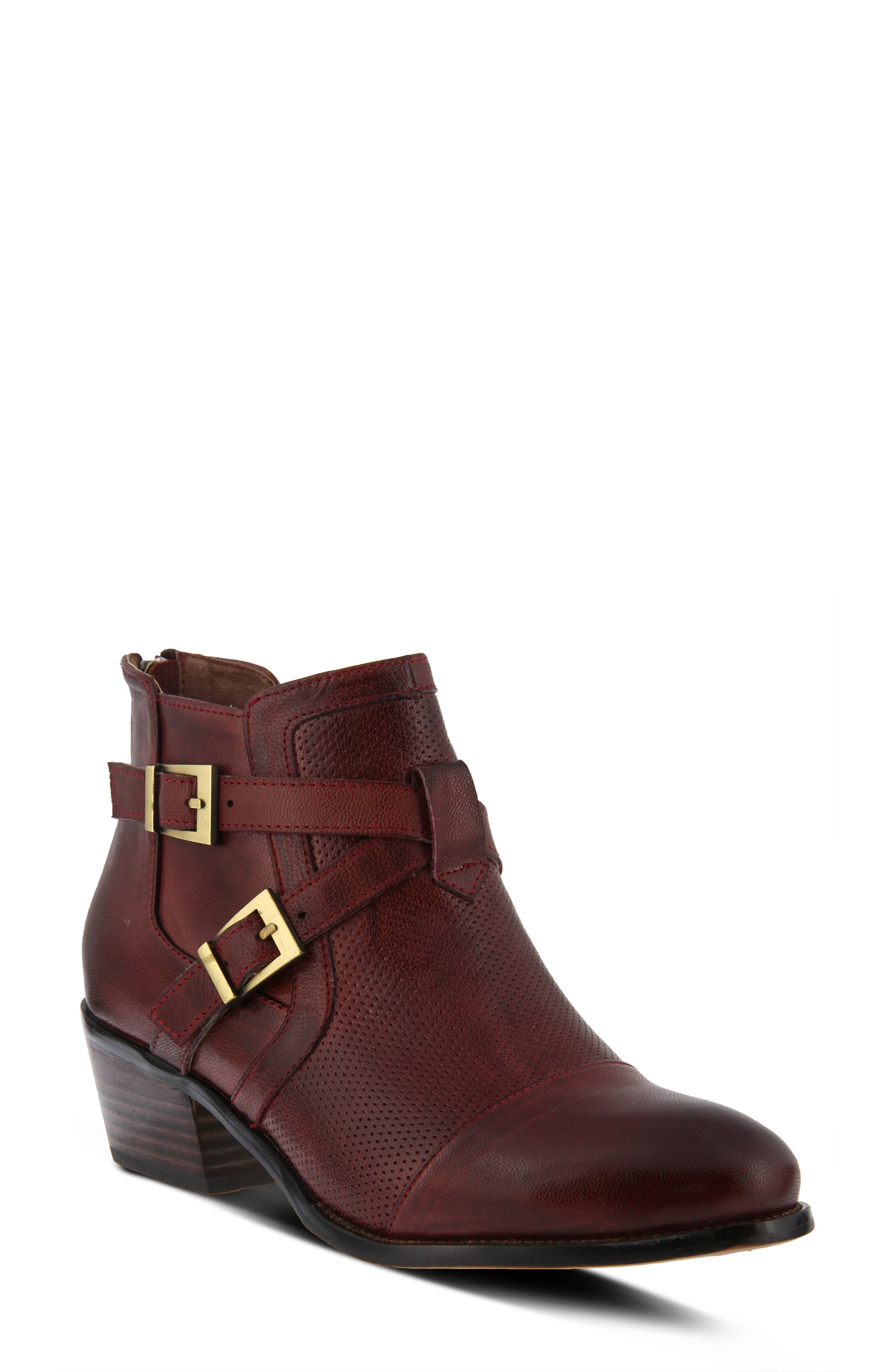 Spring Step Alethea Bootie, Red