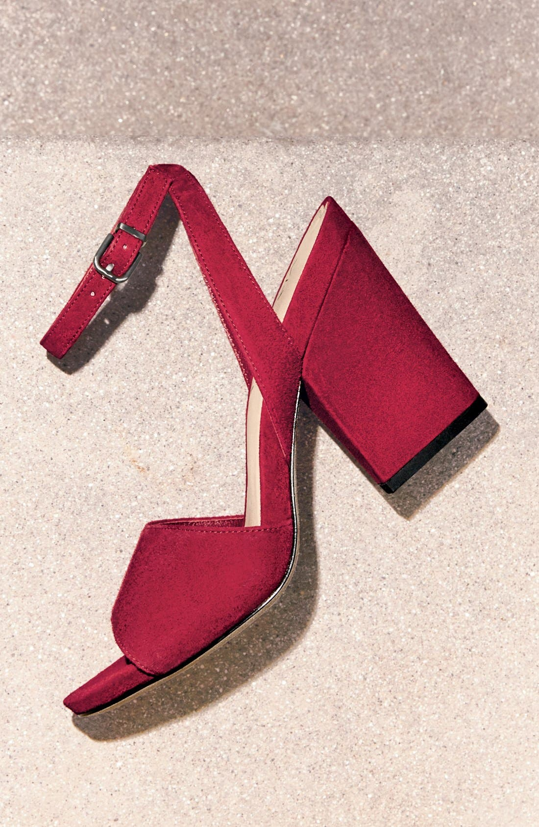 'Piper' Ankle Strap Sandal,                             Alternate thumbnail 5, color,                             003