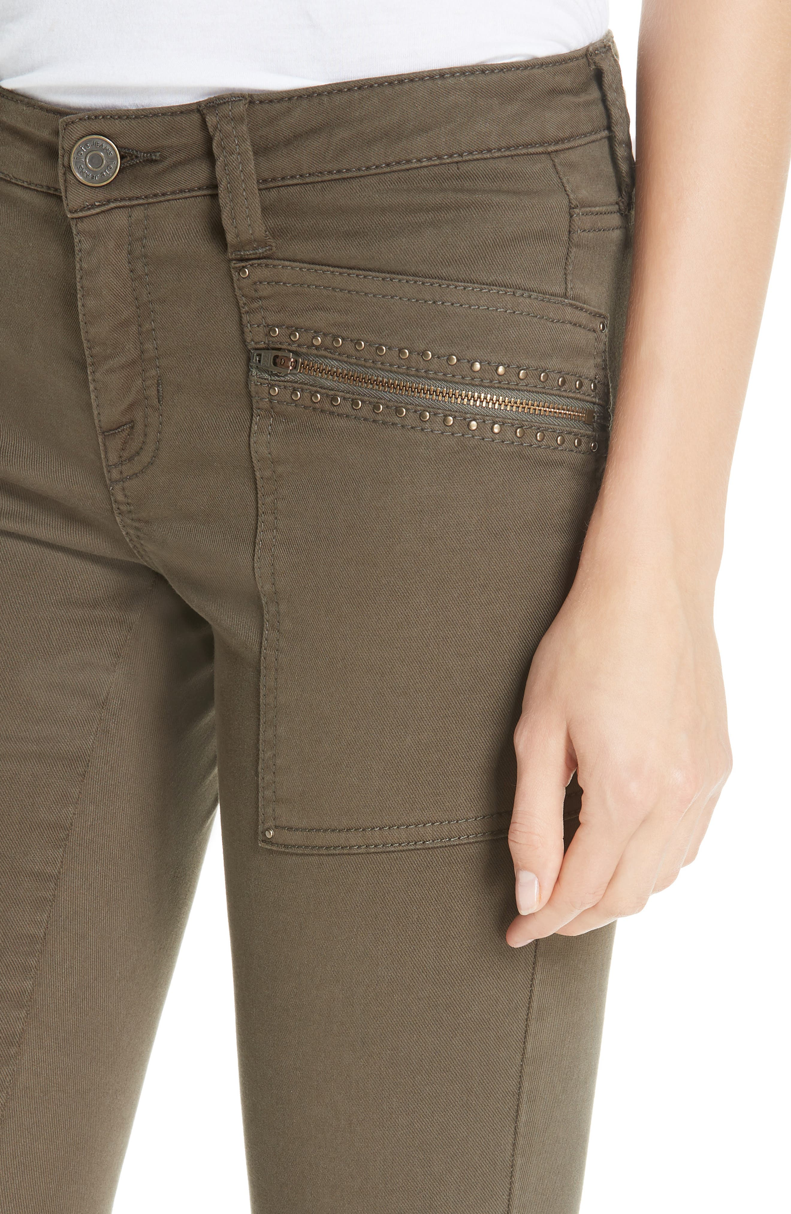 JOIE,                             Hazina Stud Detail Pants,                             Alternate thumbnail 4, color,                             301