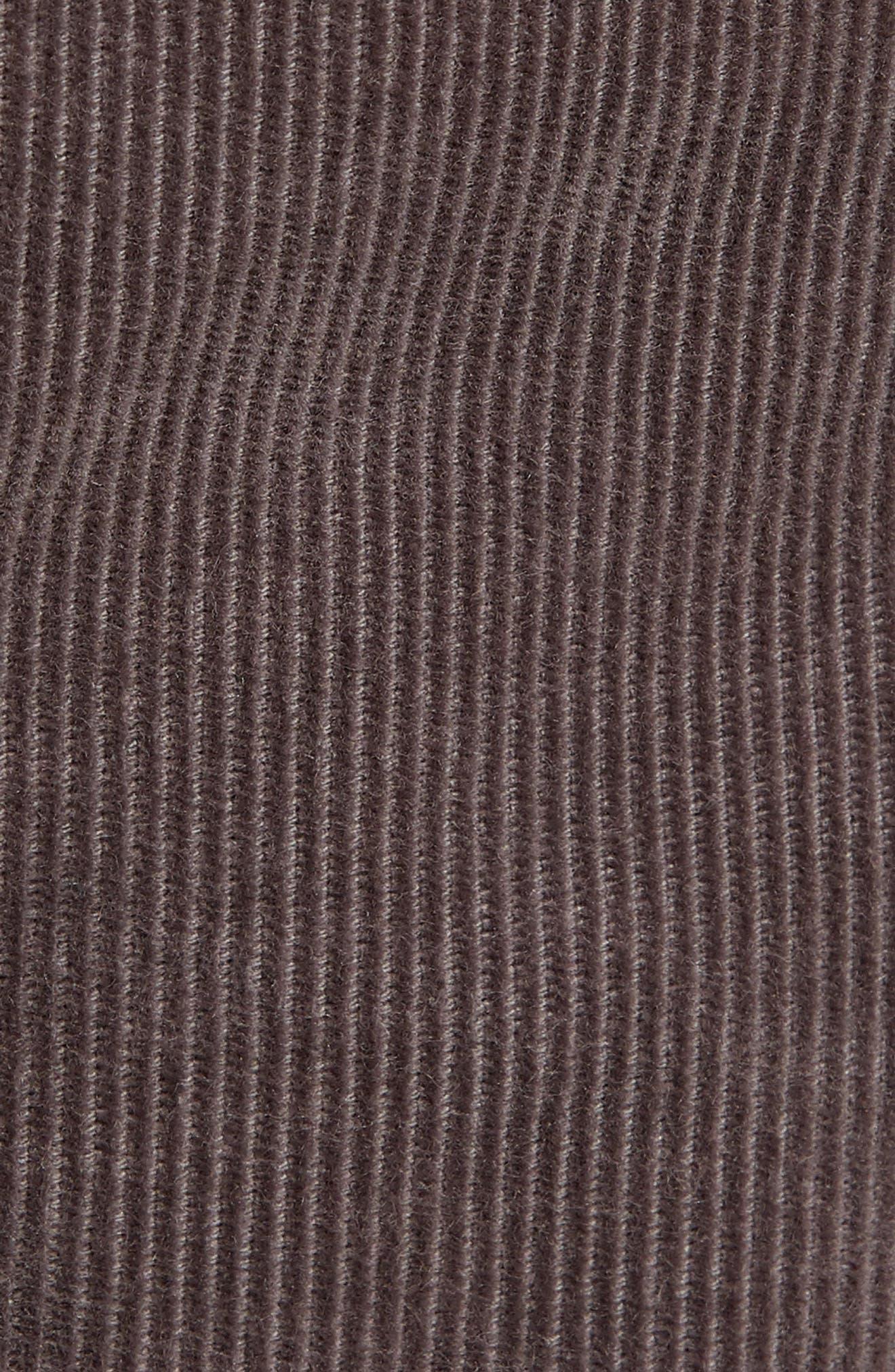 Slim Fit Corduroy Pants,                             Alternate thumbnail 5, color,                             CHARCOAL