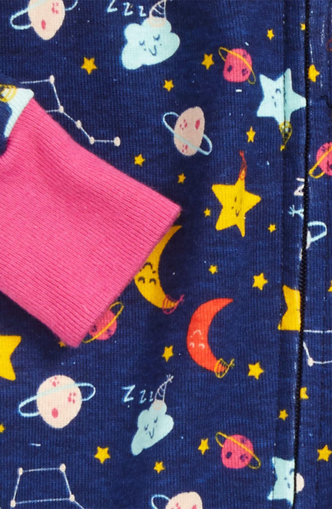 Galaxy Fitted One-Piece Pajamas,                             Alternate thumbnail 2, color,