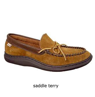 'Atlin' Moccasin,                             Alternate thumbnail 6, color,                             Saddle/ Terry