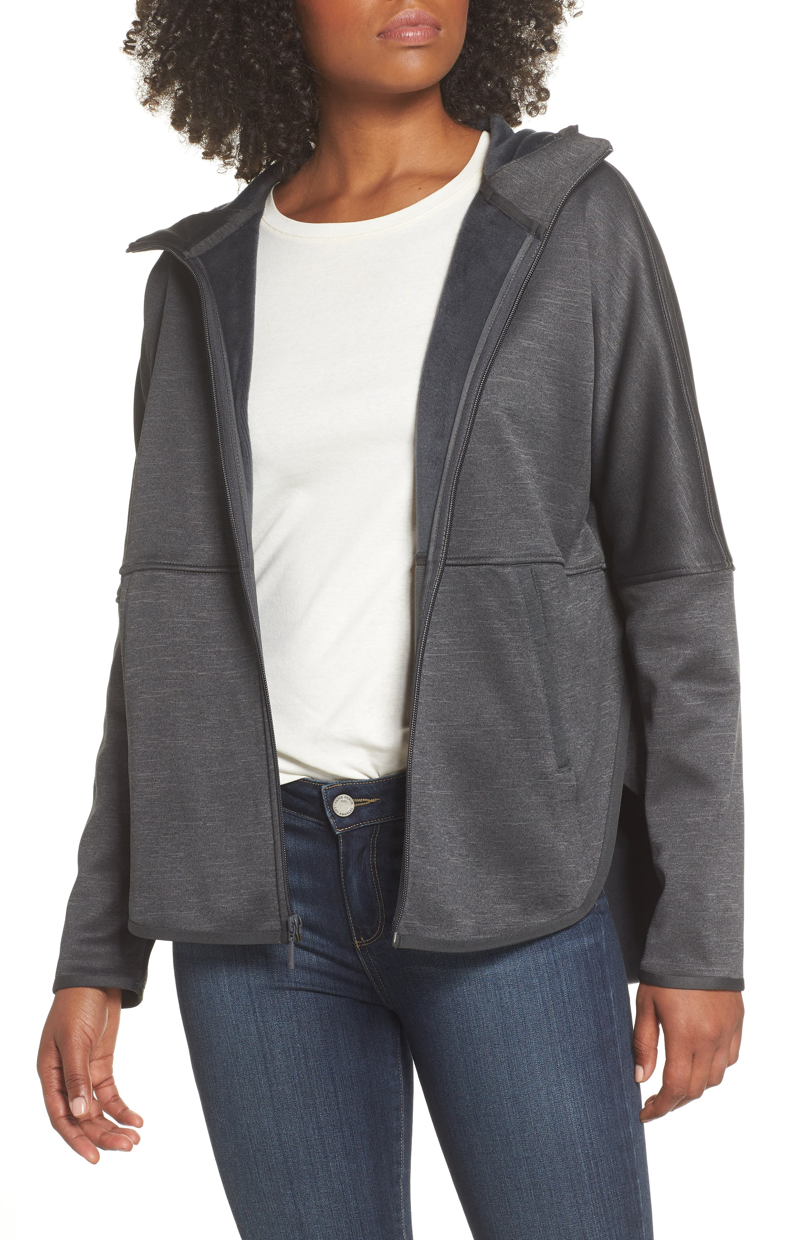 Cozy Slacker Jacket,                         Main,                         color, TNF DARK GREY HEATHER