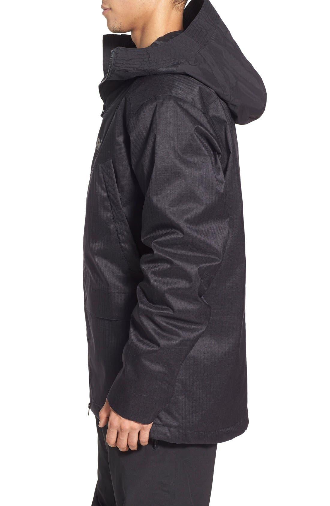 HELLY HANSEN,                             'Denver' Relaxed Fit Herringbone Hooded Jacket,                             Alternate thumbnail 2, color,                             001