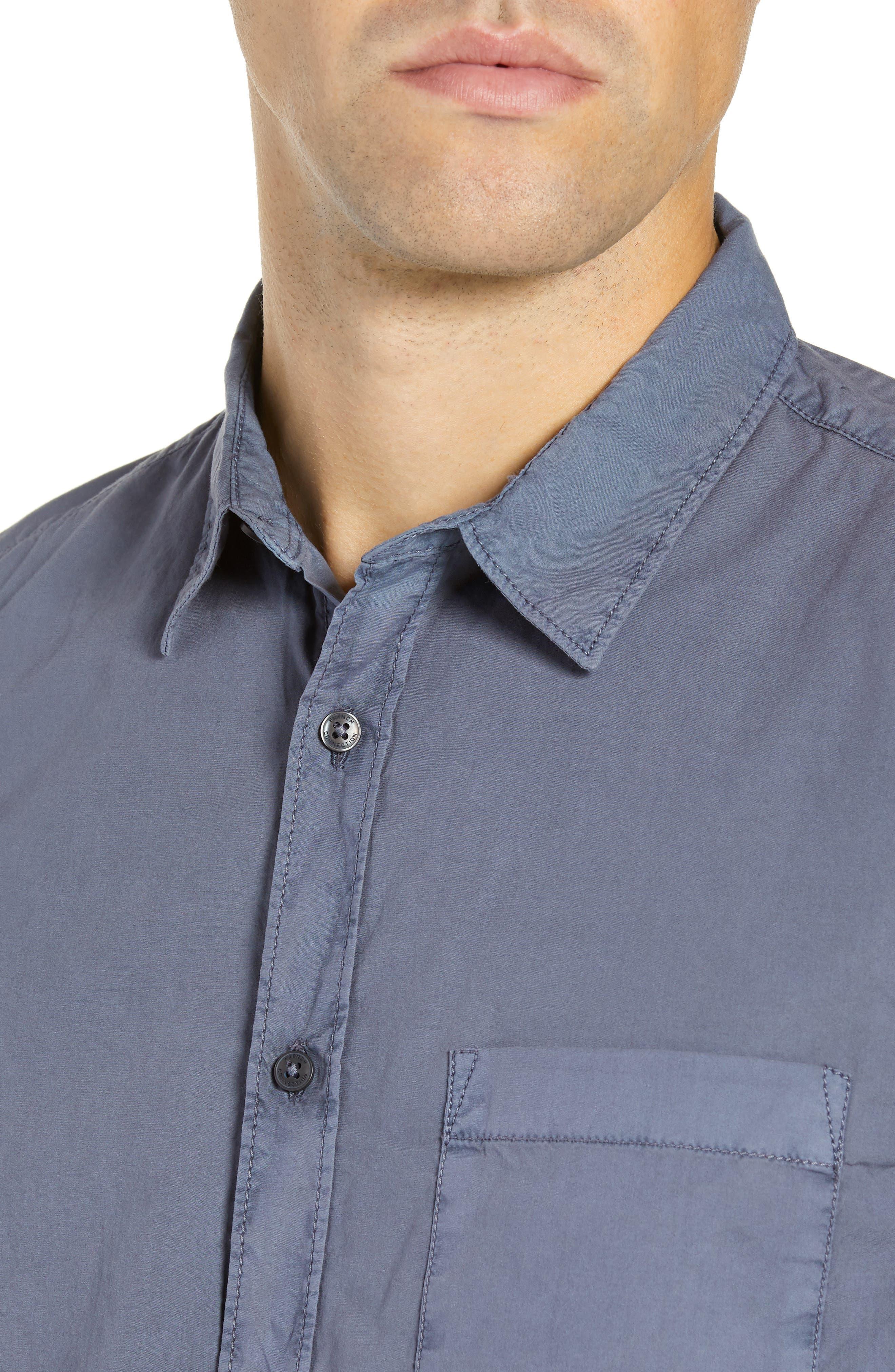 Overdyed Regular Fit Poplin Sport Shirt,                             Alternate thumbnail 2, color,                             RAF BLUE