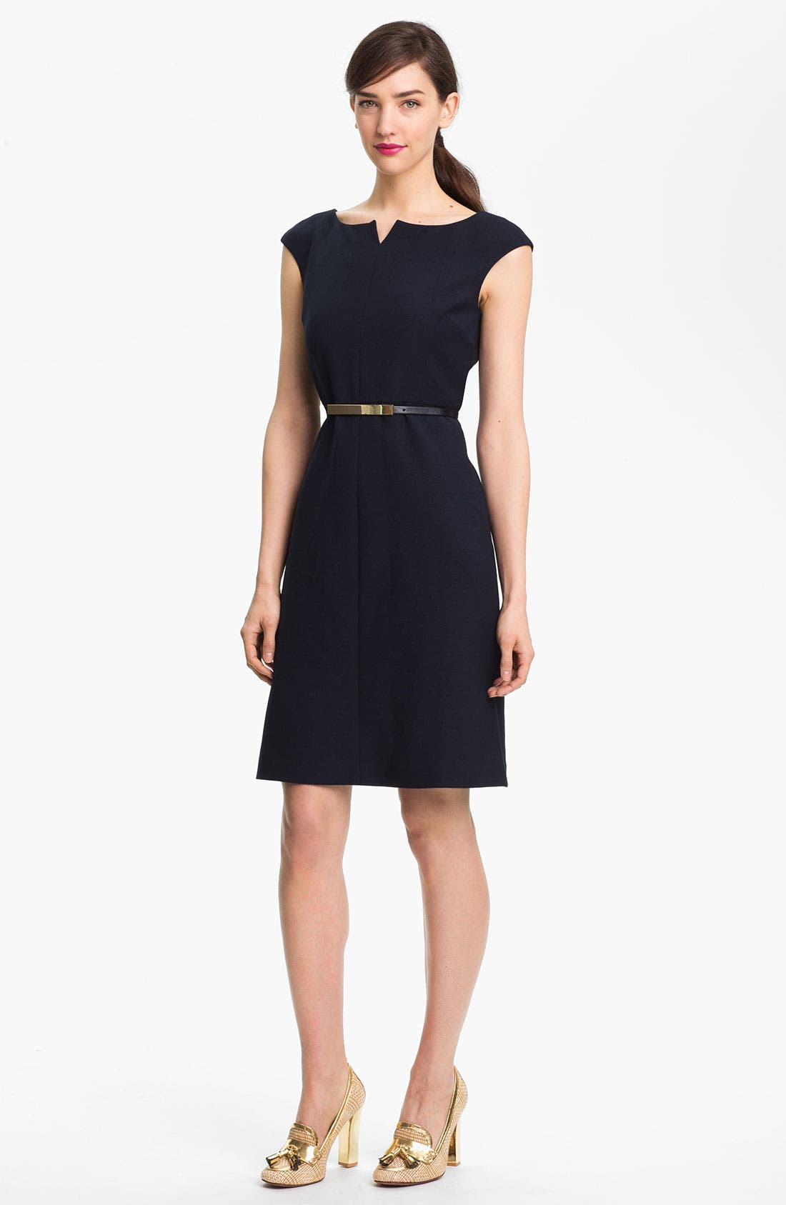 'Walsh' Wool Blend A-Line Dress,                             Main thumbnail 1, color,                             411