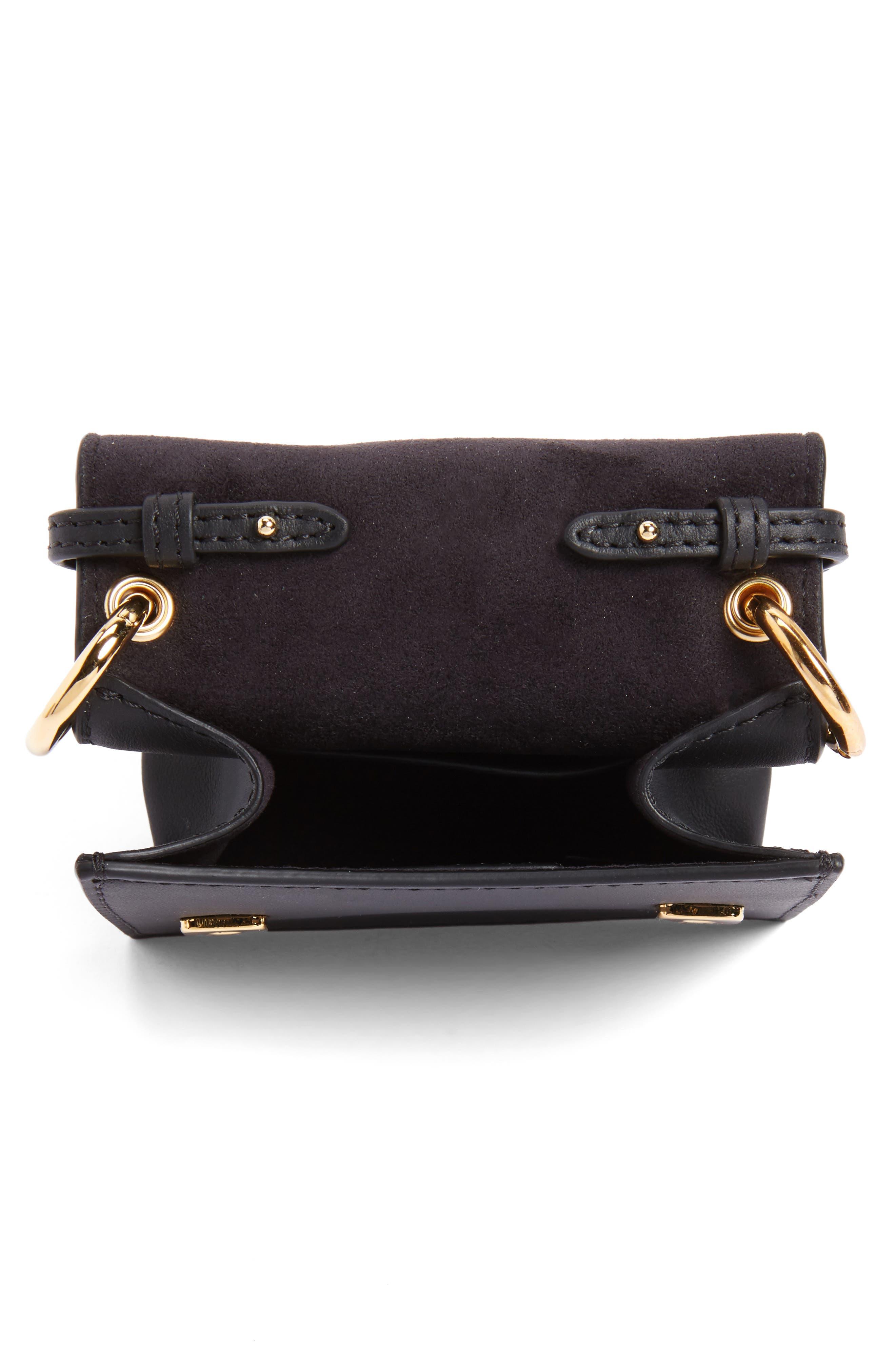 Mini Kan I Crossbody Bag with Genuine Python Trim,                             Alternate thumbnail 4, color,                             004