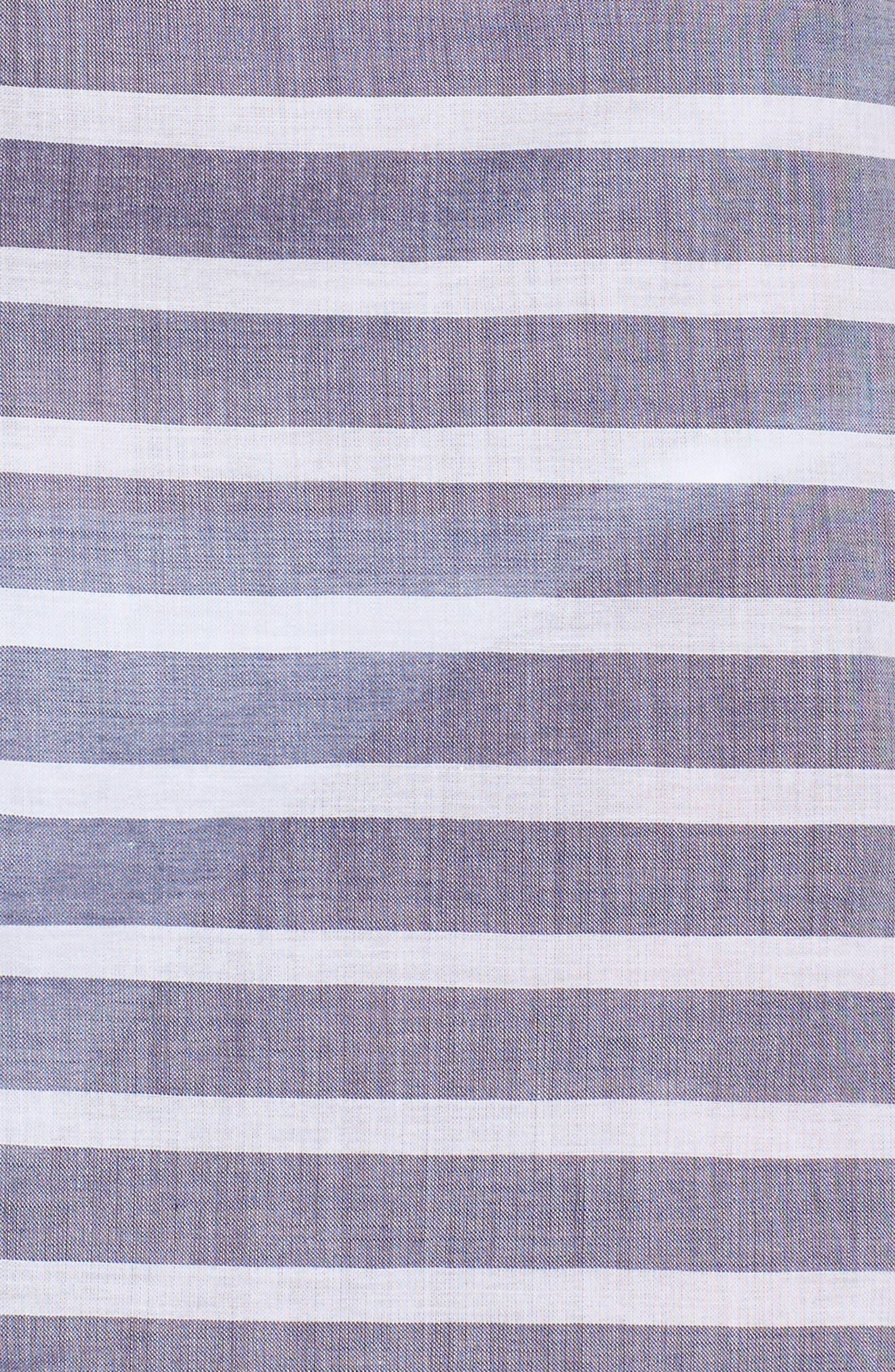Brenton Stripe Boyfriend Shirt Cover-Up,                             Alternate thumbnail 5, color,                             401