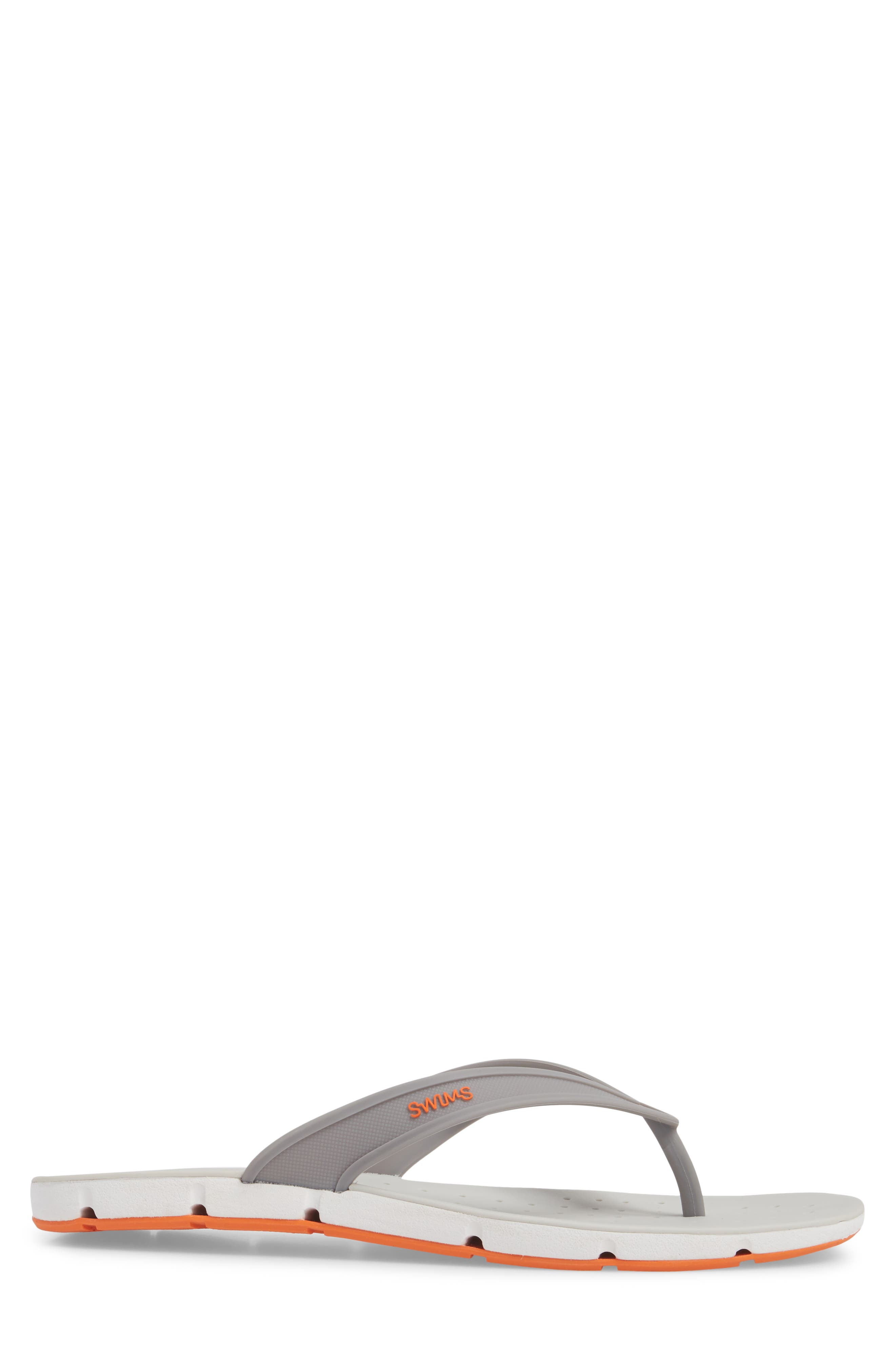 Breeze Flip Flop,                             Alternate thumbnail 3, color,                             GRAY / WHITE / ORANGE