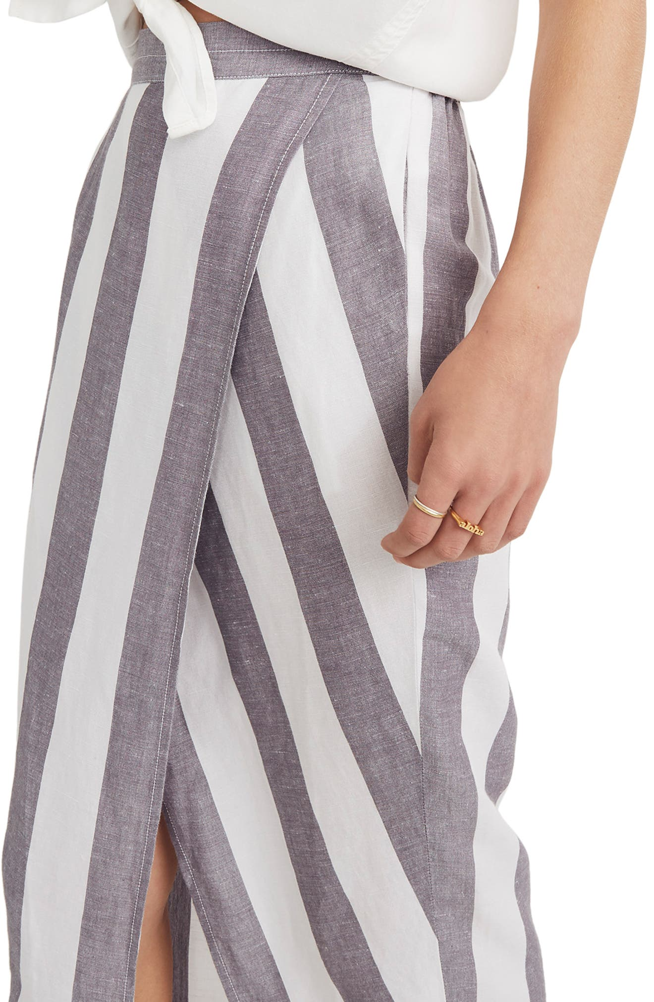 Stripe Overlay Skirt,                             Alternate thumbnail 3, color,                             020