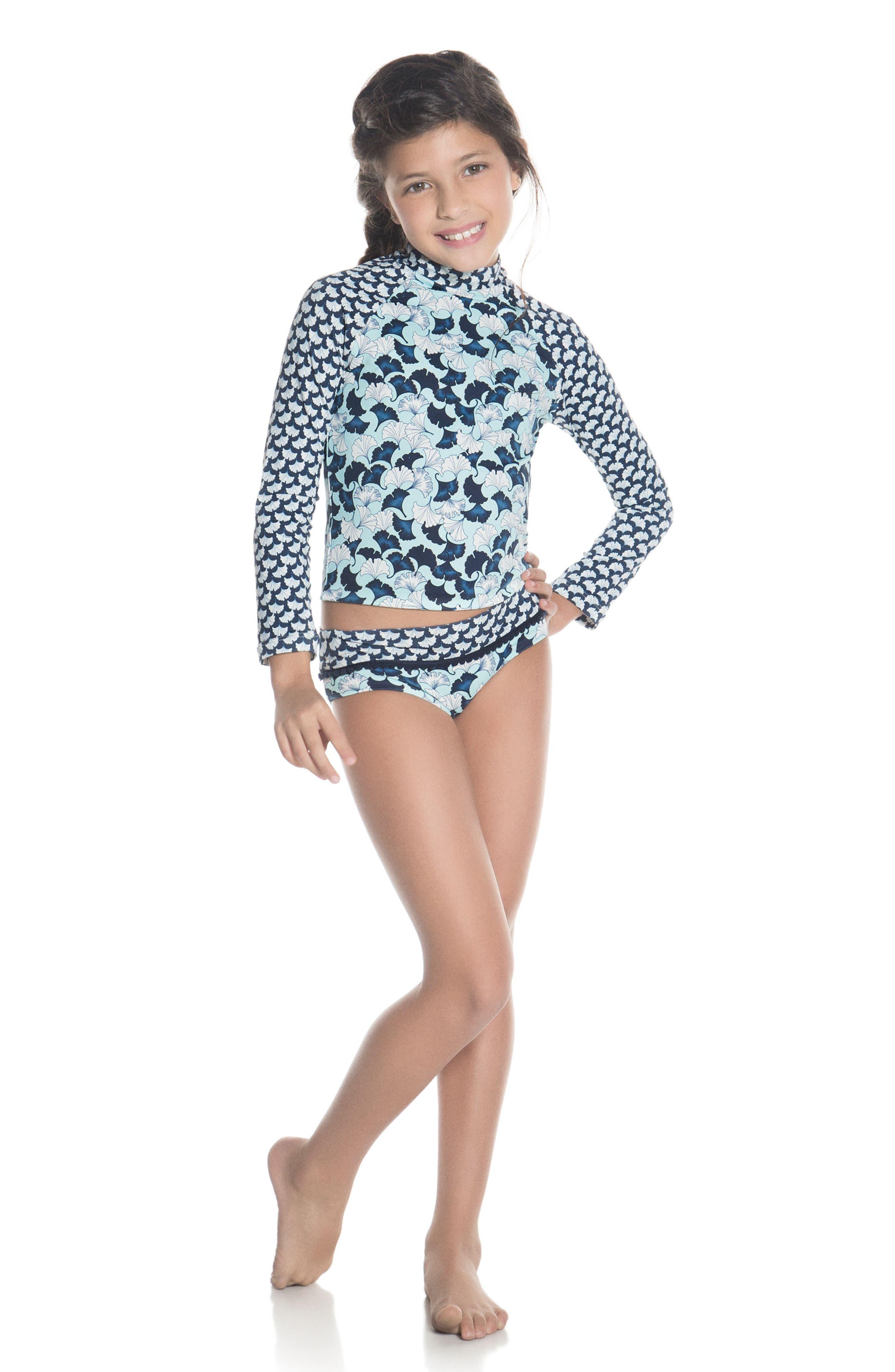 Lotto Two-Piece Rashguard Swimsuit,                             Alternate thumbnail 3, color,                             400
