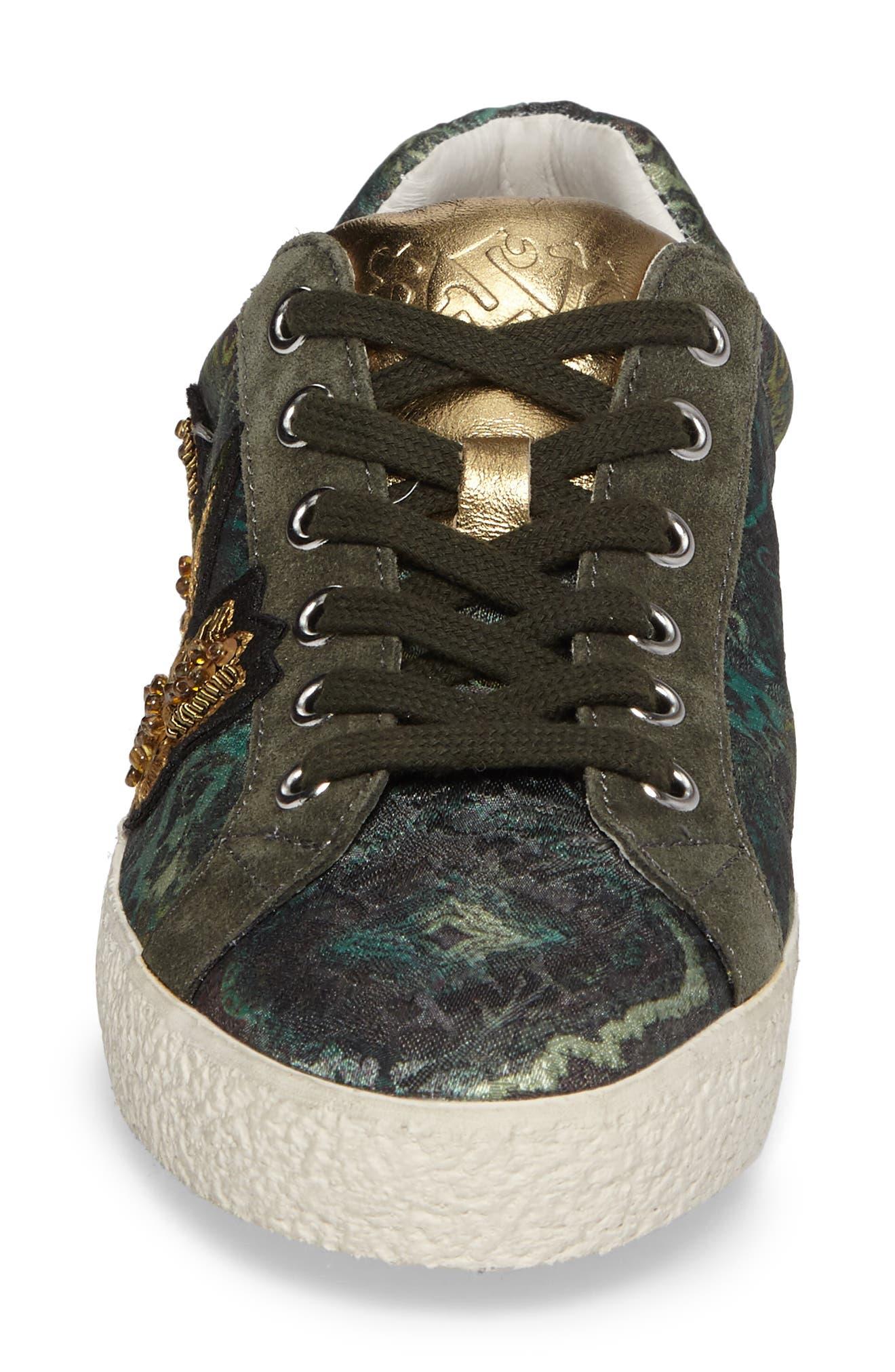 Embellished Low-Top Sneaker,                             Alternate thumbnail 4, color,                             312