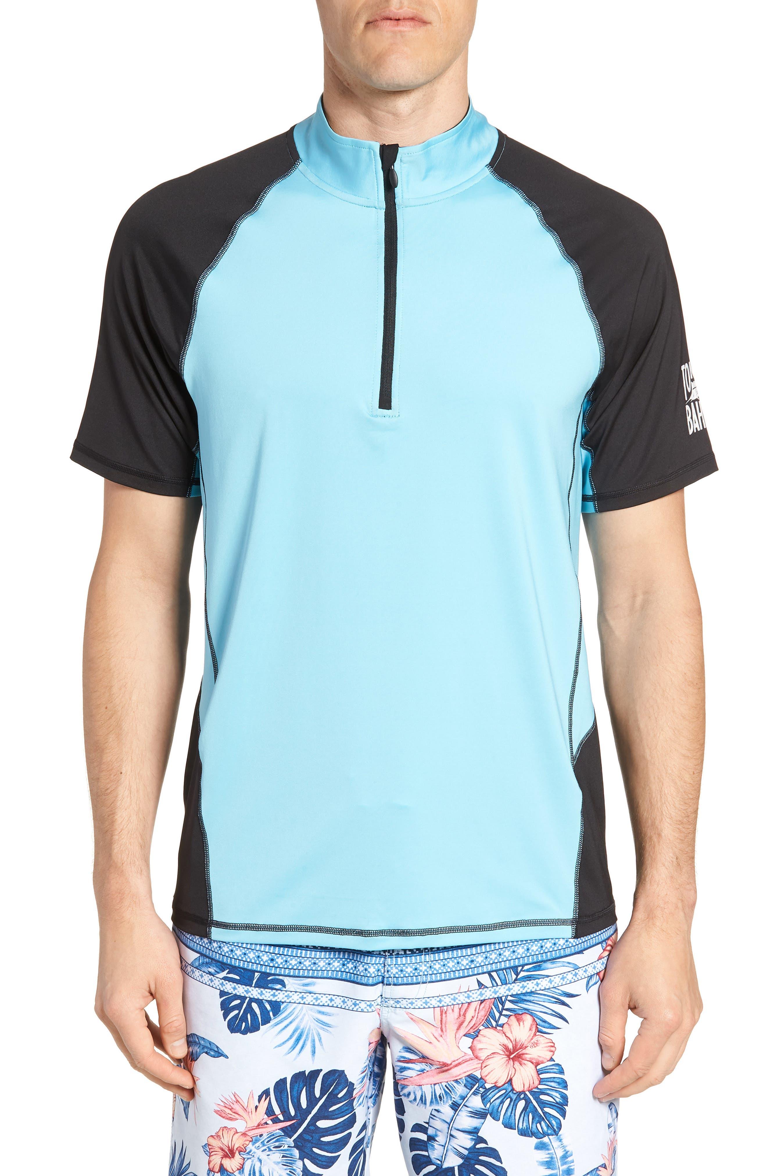 IslandActive<sup>™</sup> Colorblock Beach Pro Rashguard T-Shirt,                             Main thumbnail 1, color,                             400