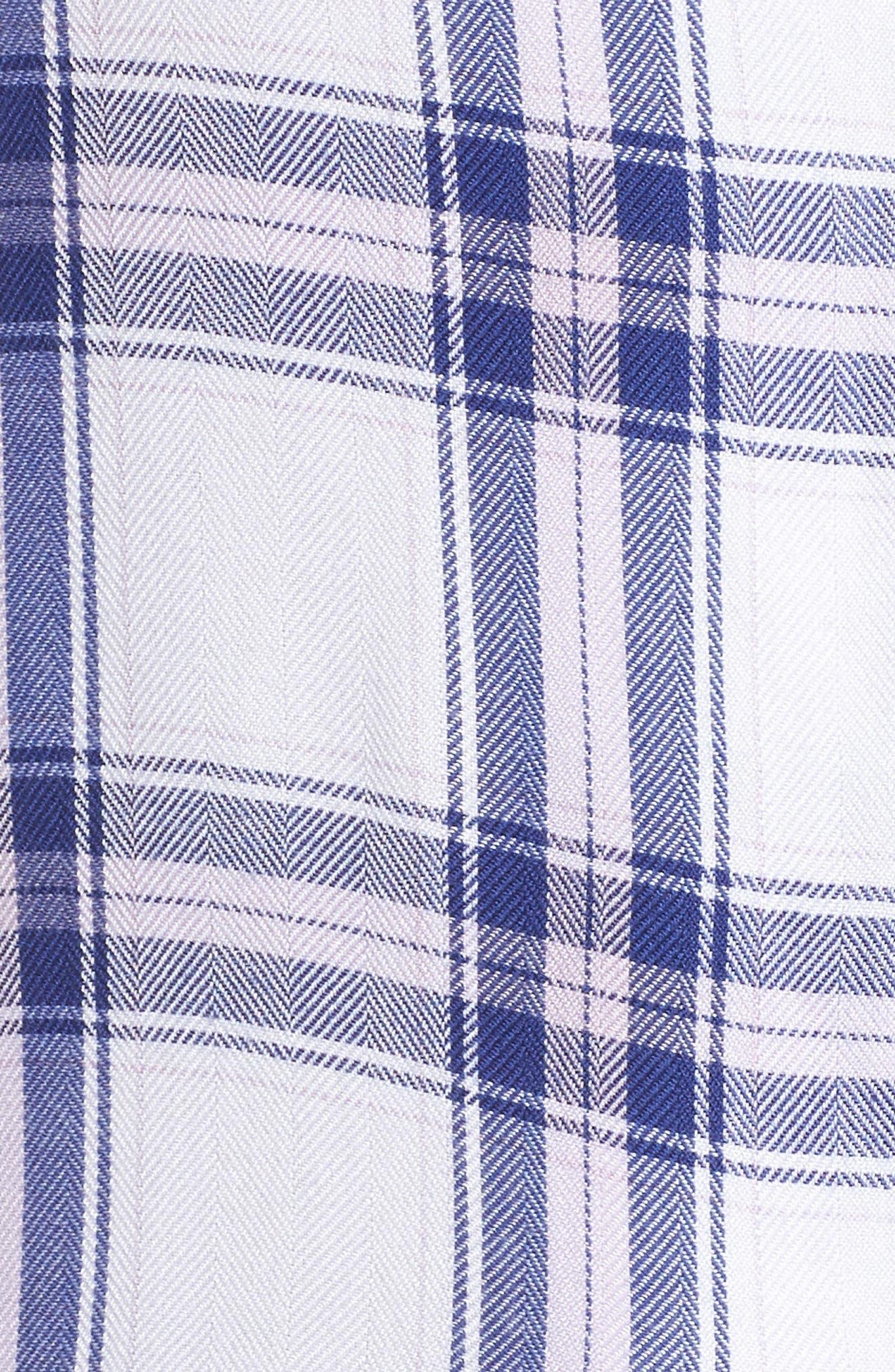 Plaid Pajamas,                             Alternate thumbnail 5, color,                             WHITE SAPPHIRE LILAC
