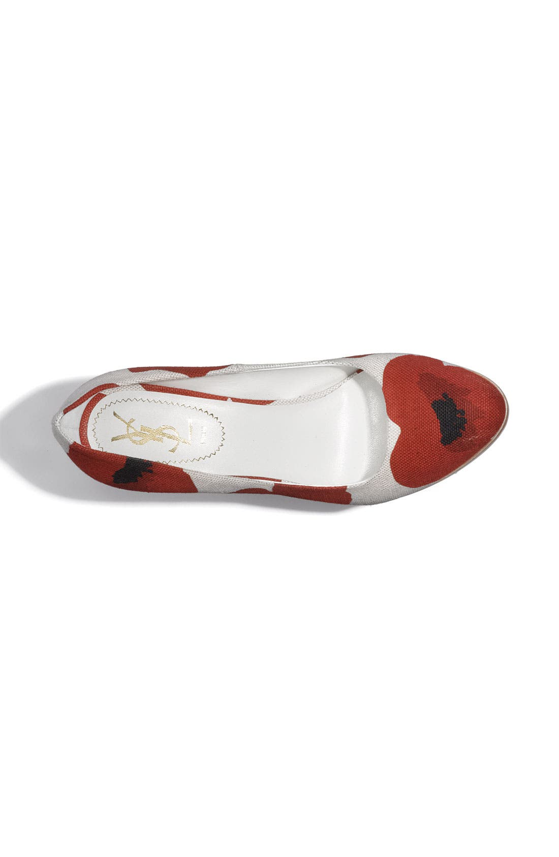 Poppy Print Wedge Pump,                             Alternate thumbnail 2, color,                             600