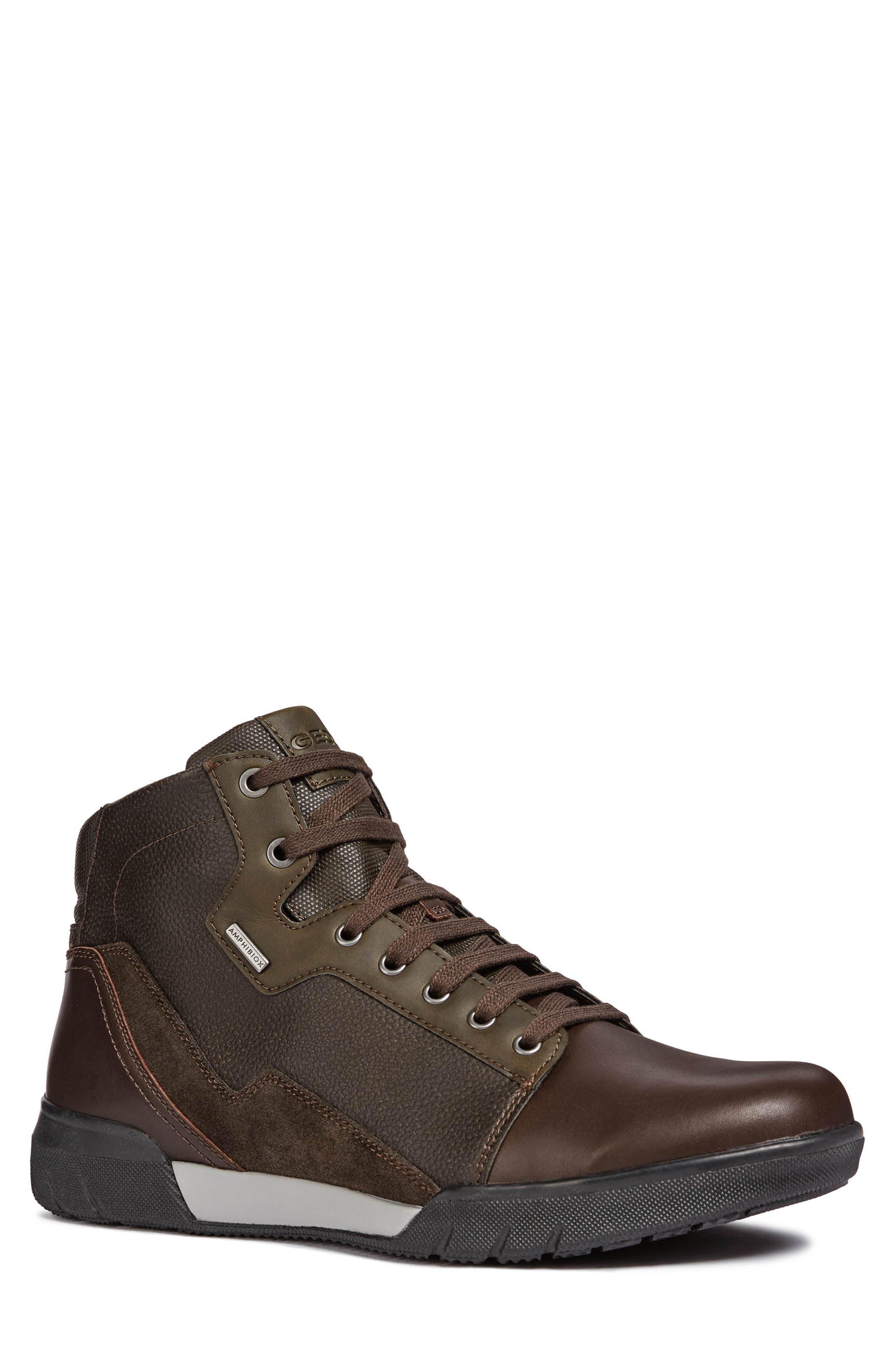 GEOX Redward Amphibiox Waterproof Boot in Dark Coffee