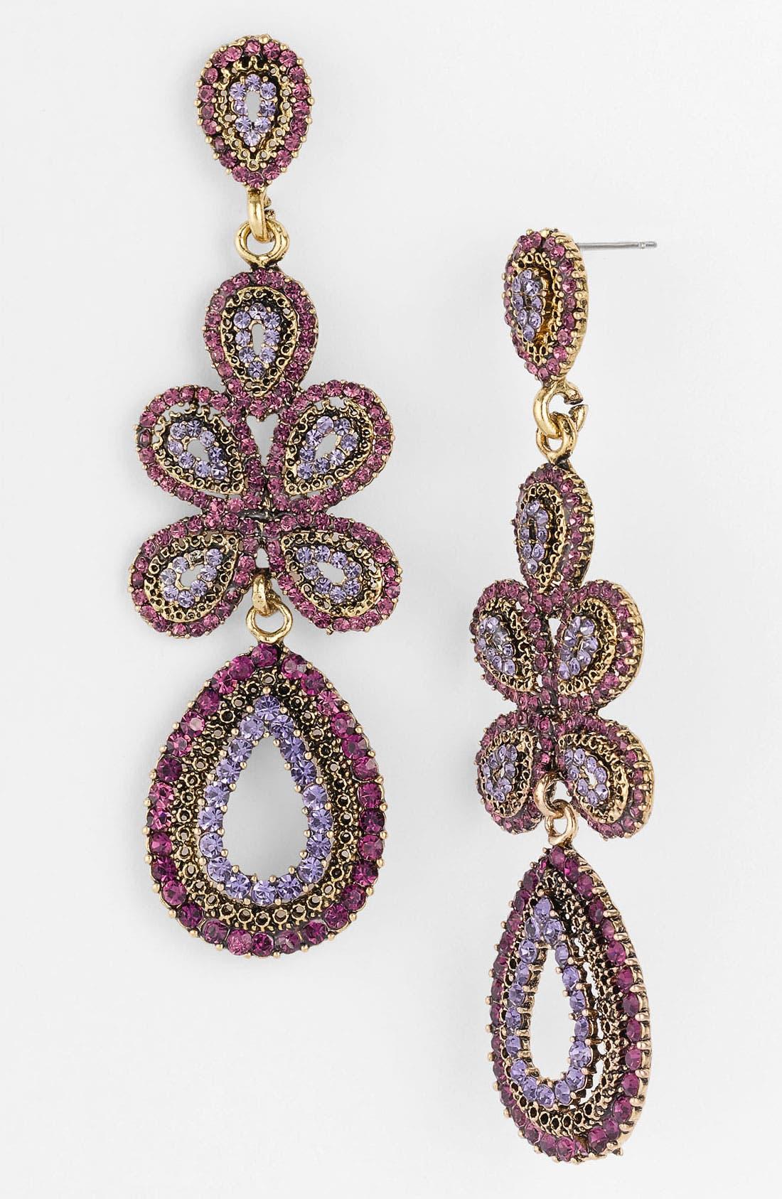 'Ornate' Linear Statement Earrings,                             Main thumbnail 12, color,