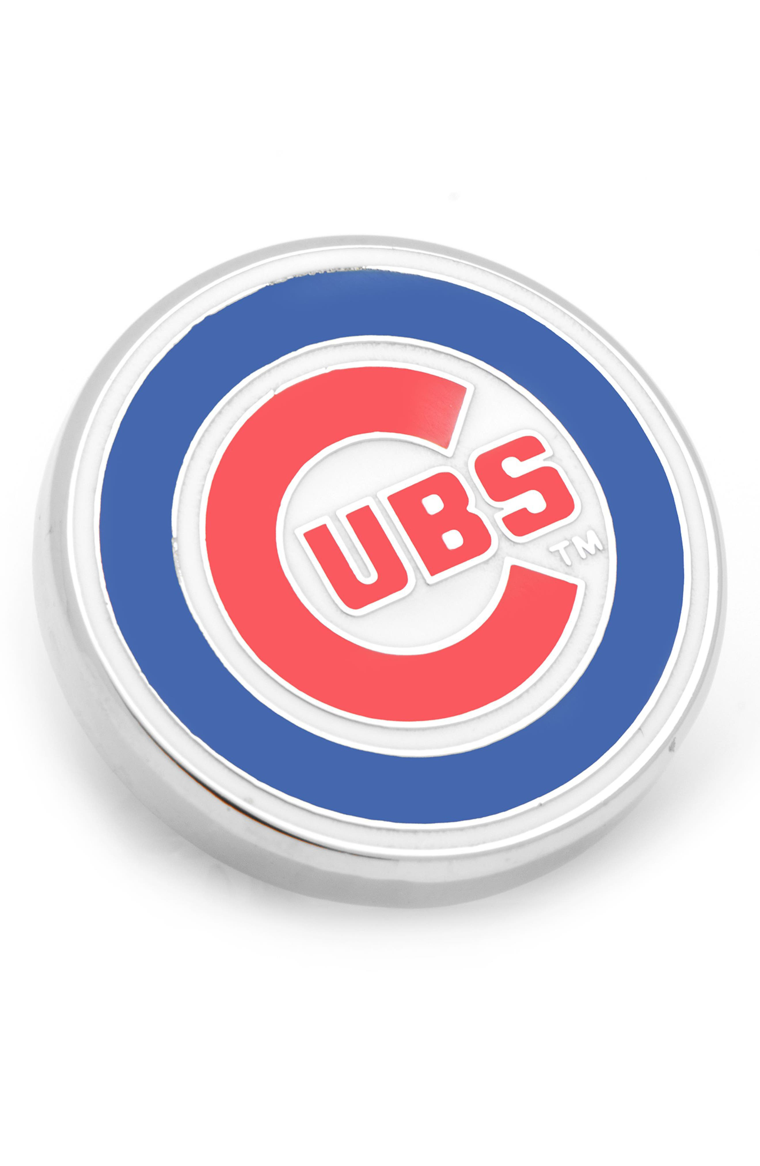 Chicago Cubs Lapel Pin,                             Main thumbnail 1, color,                             BLUE/ RED