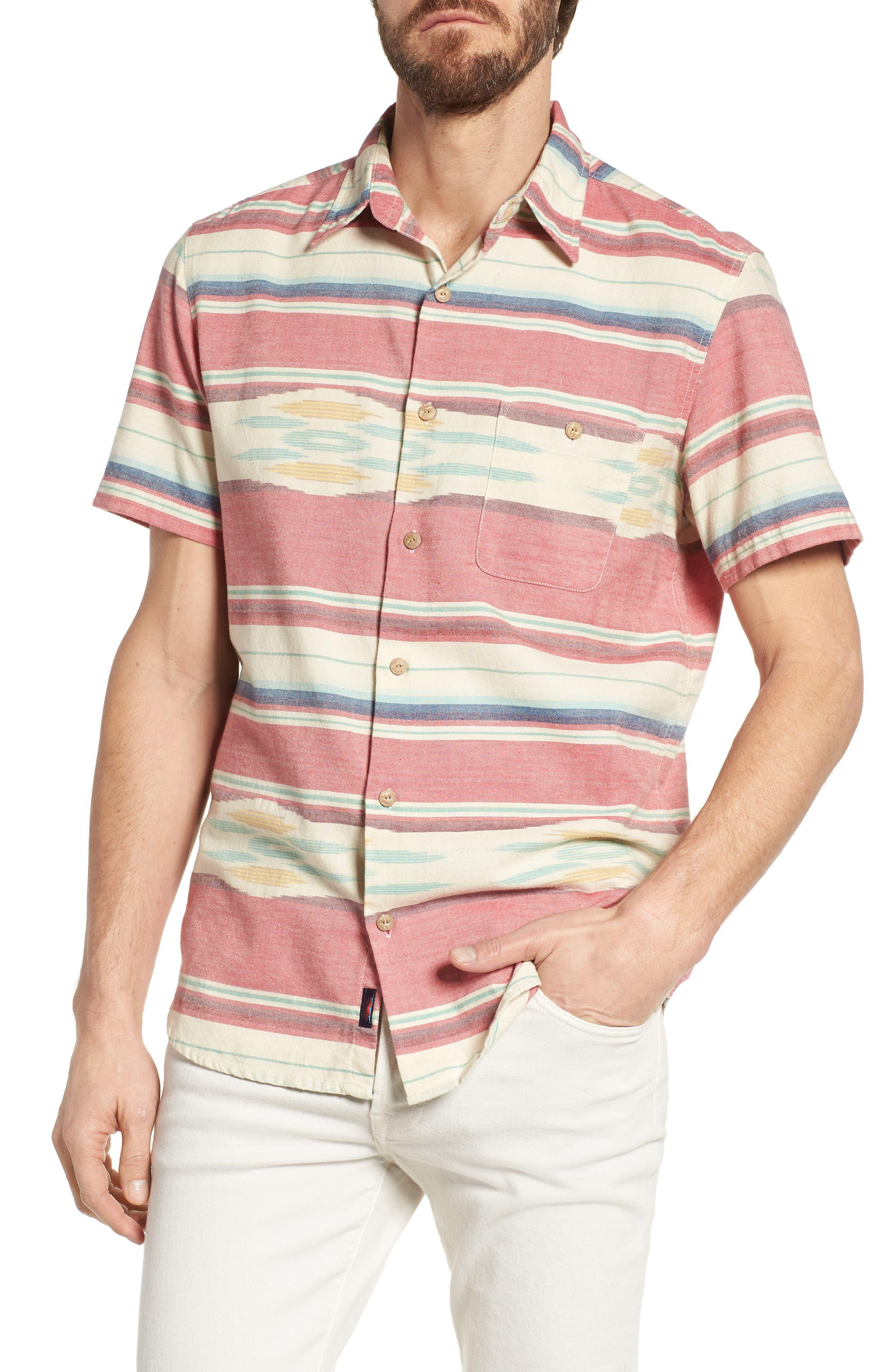 Coast Ikat Sport Shirt,                         Main,                         color, 600