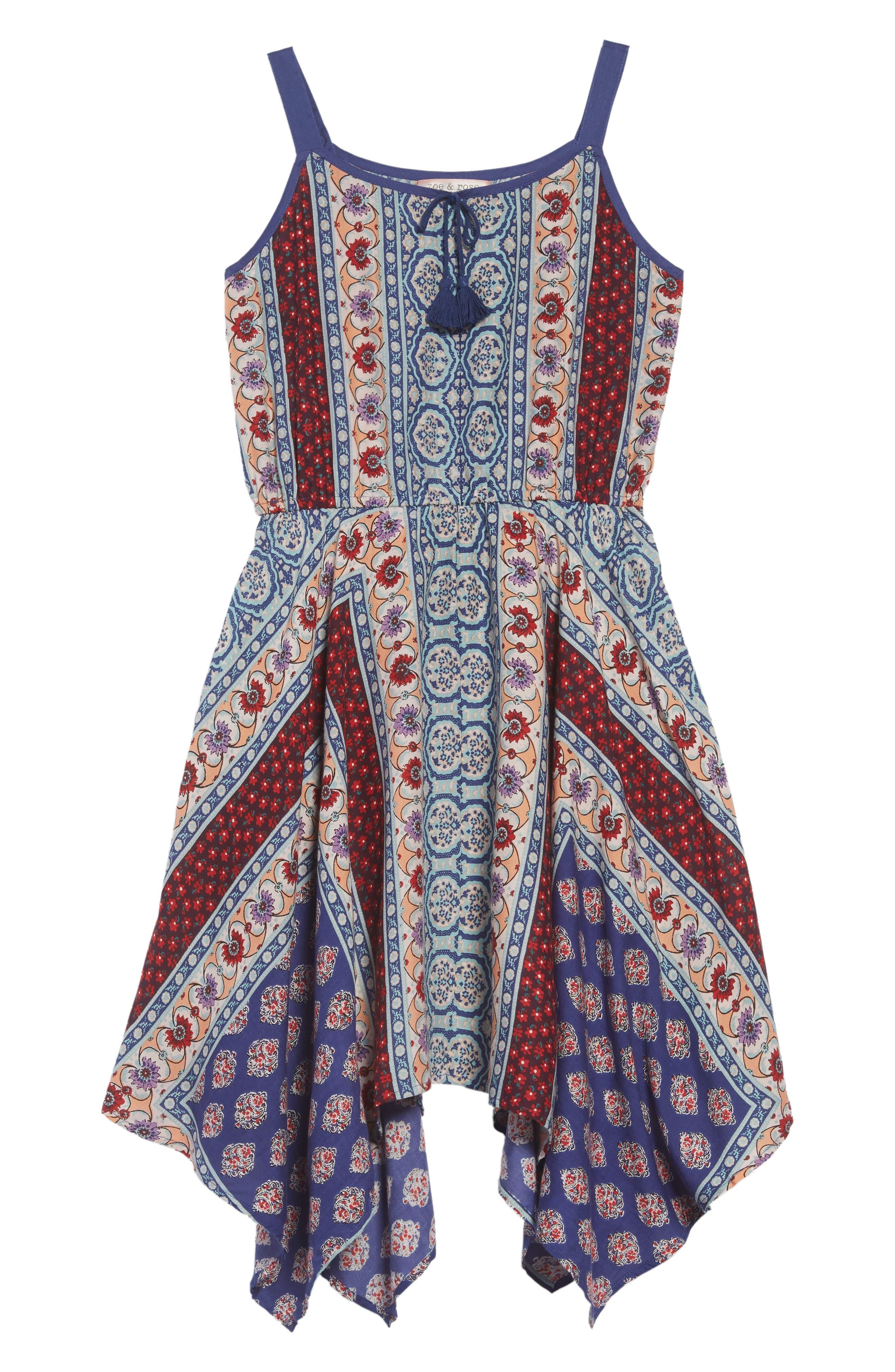 Handkerchief Hem Dress,                         Main,                         color, 421