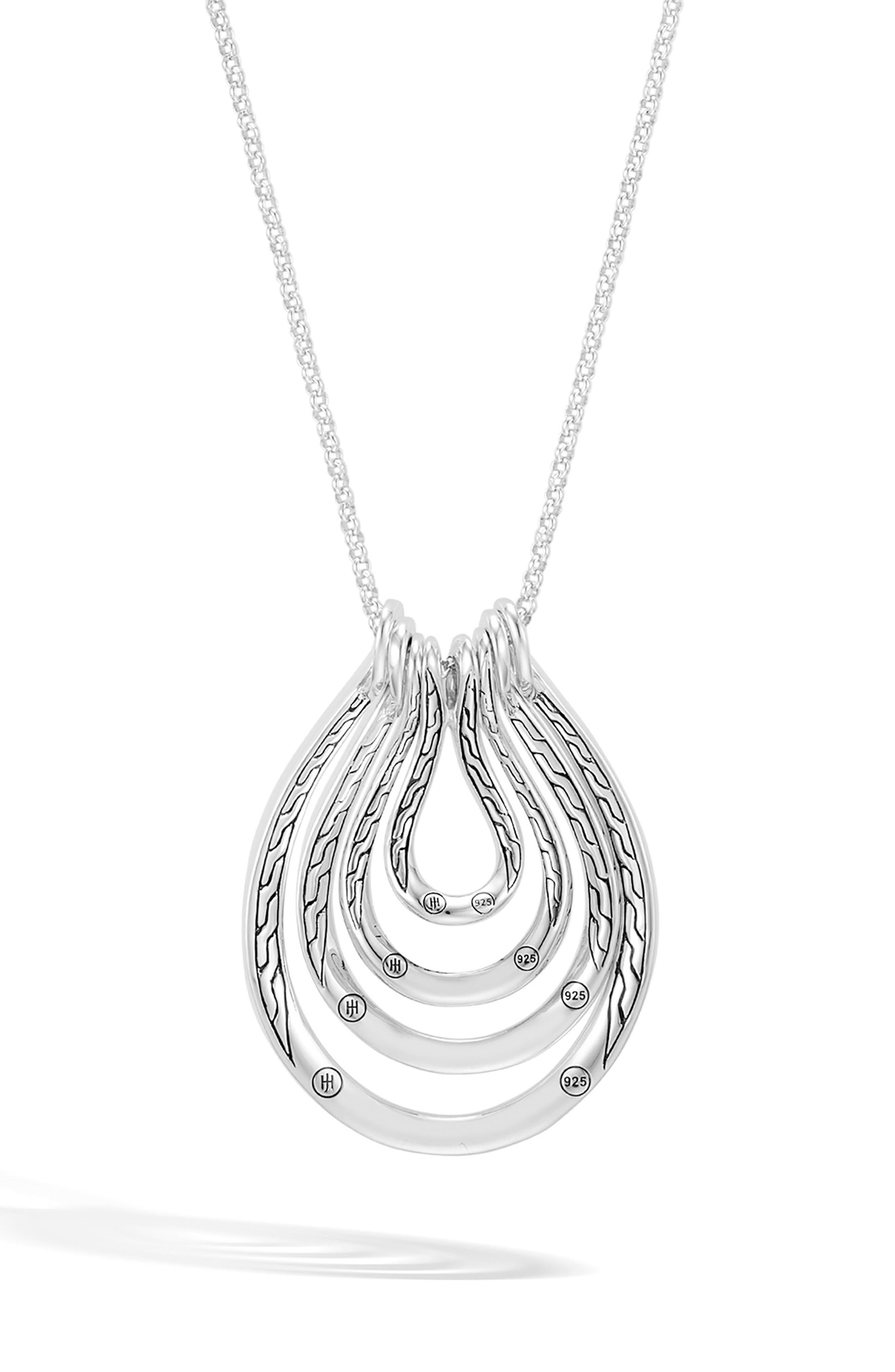 Asli Classic Chain Long Pendant Necklace,                             Alternate thumbnail 2, color,                             SILVER