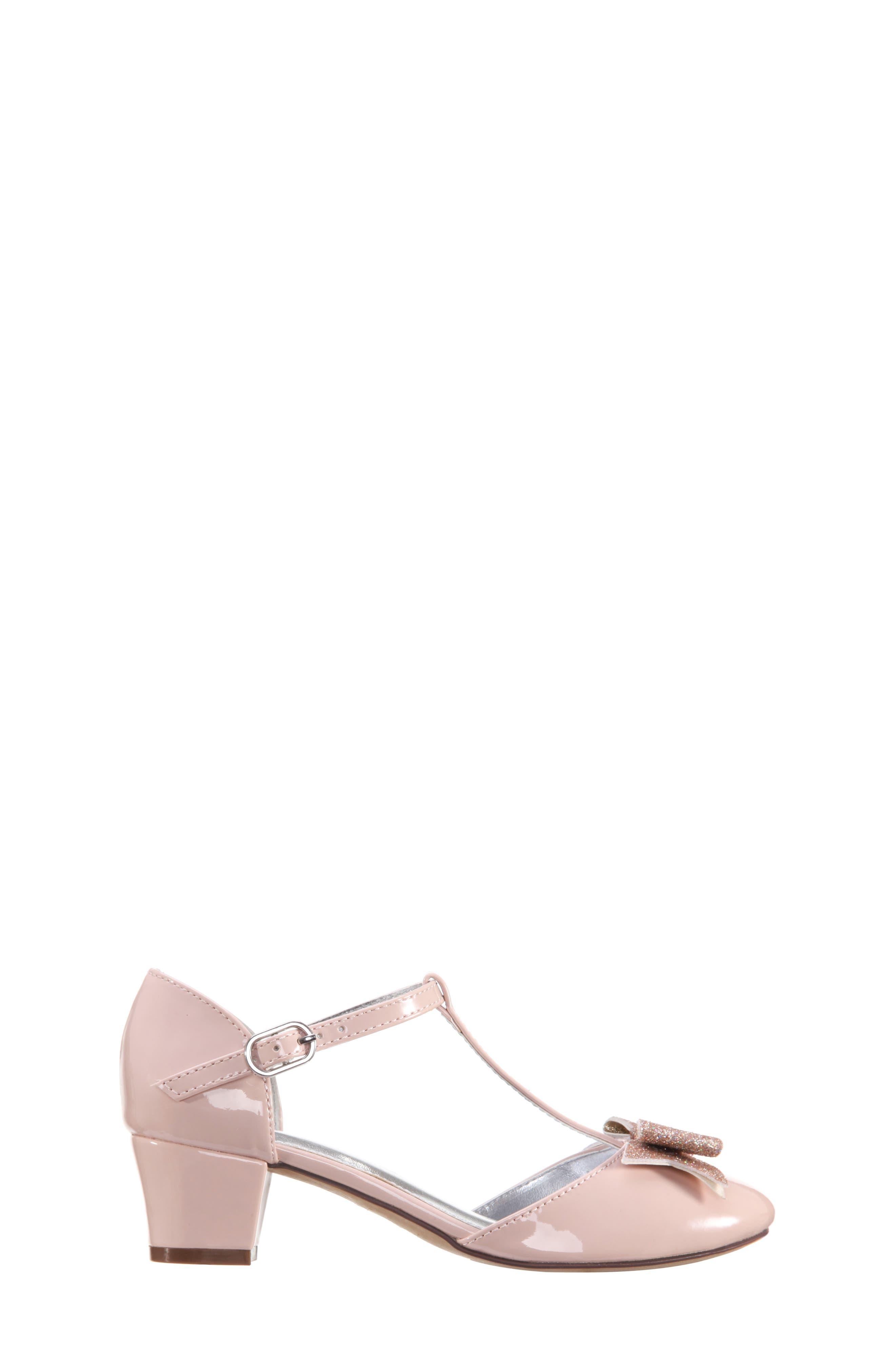 Marvette T-Strap Sandal,                             Alternate thumbnail 3, color,                             BLUSH PATENT