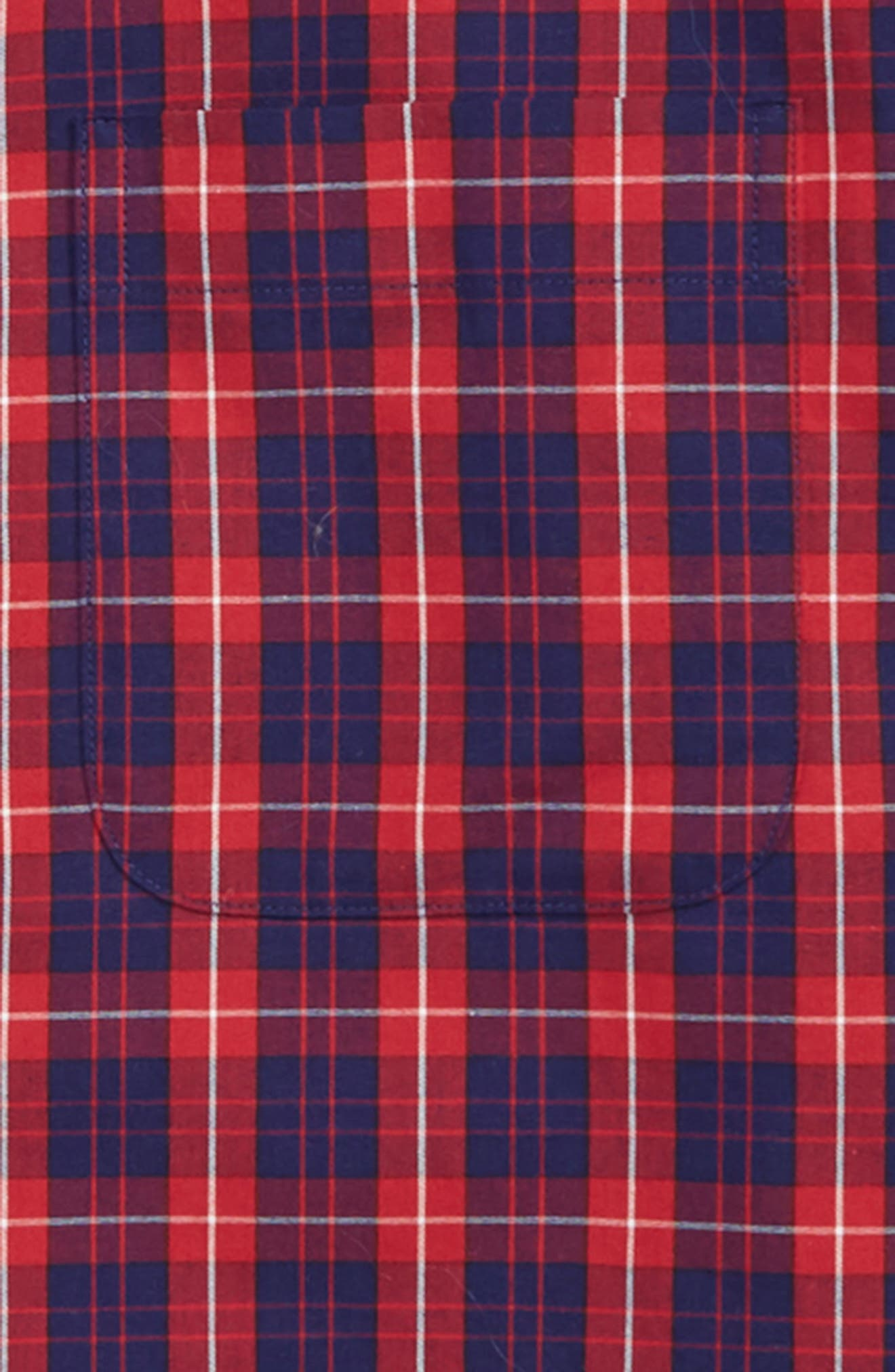 Tartan Dress Shirt,                             Alternate thumbnail 2, color,                             RED SAGE- NAVY TARTAN