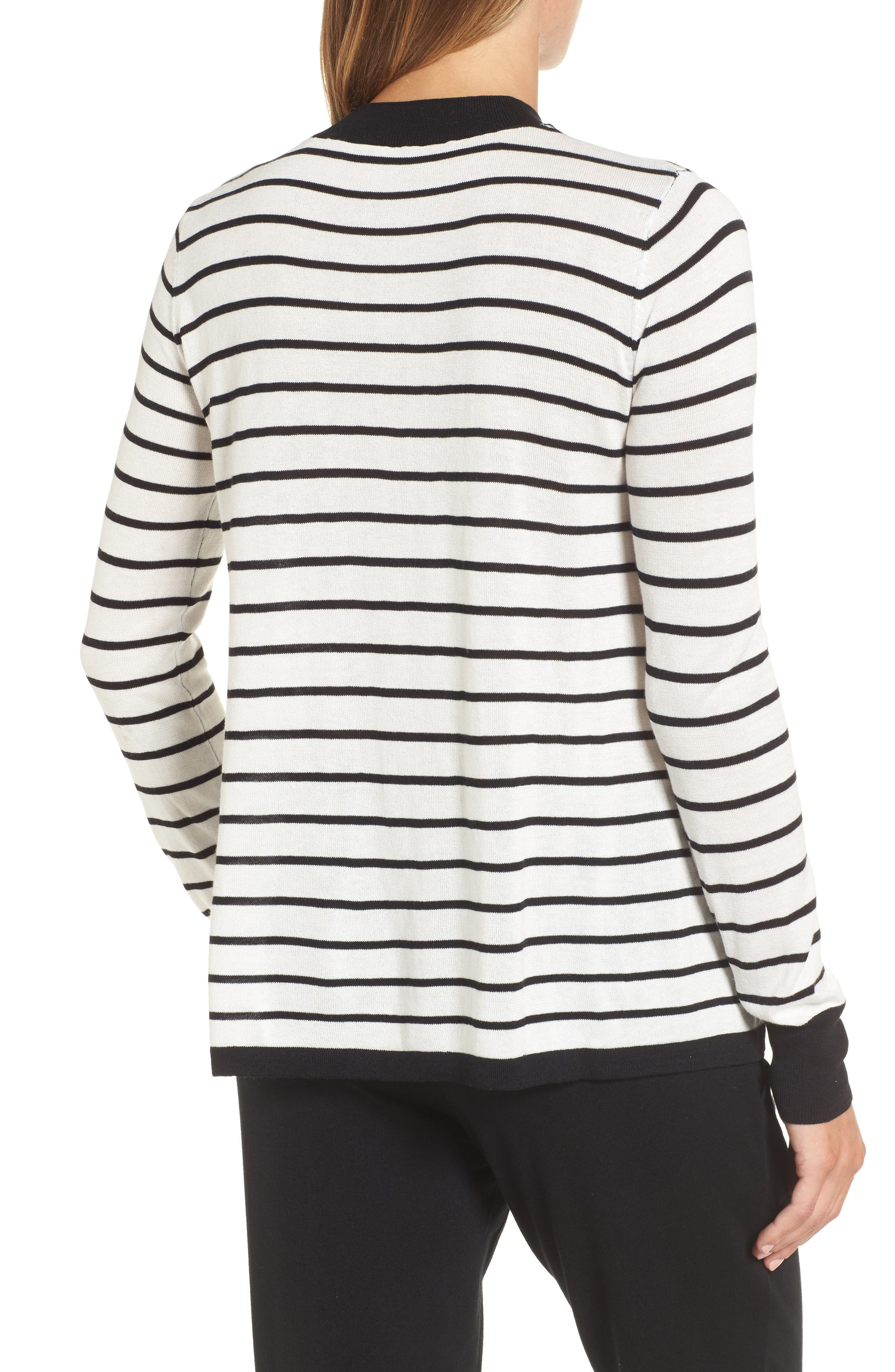 Trapeze Fit Stripe Sweater,                             Alternate thumbnail 2, color,                             907