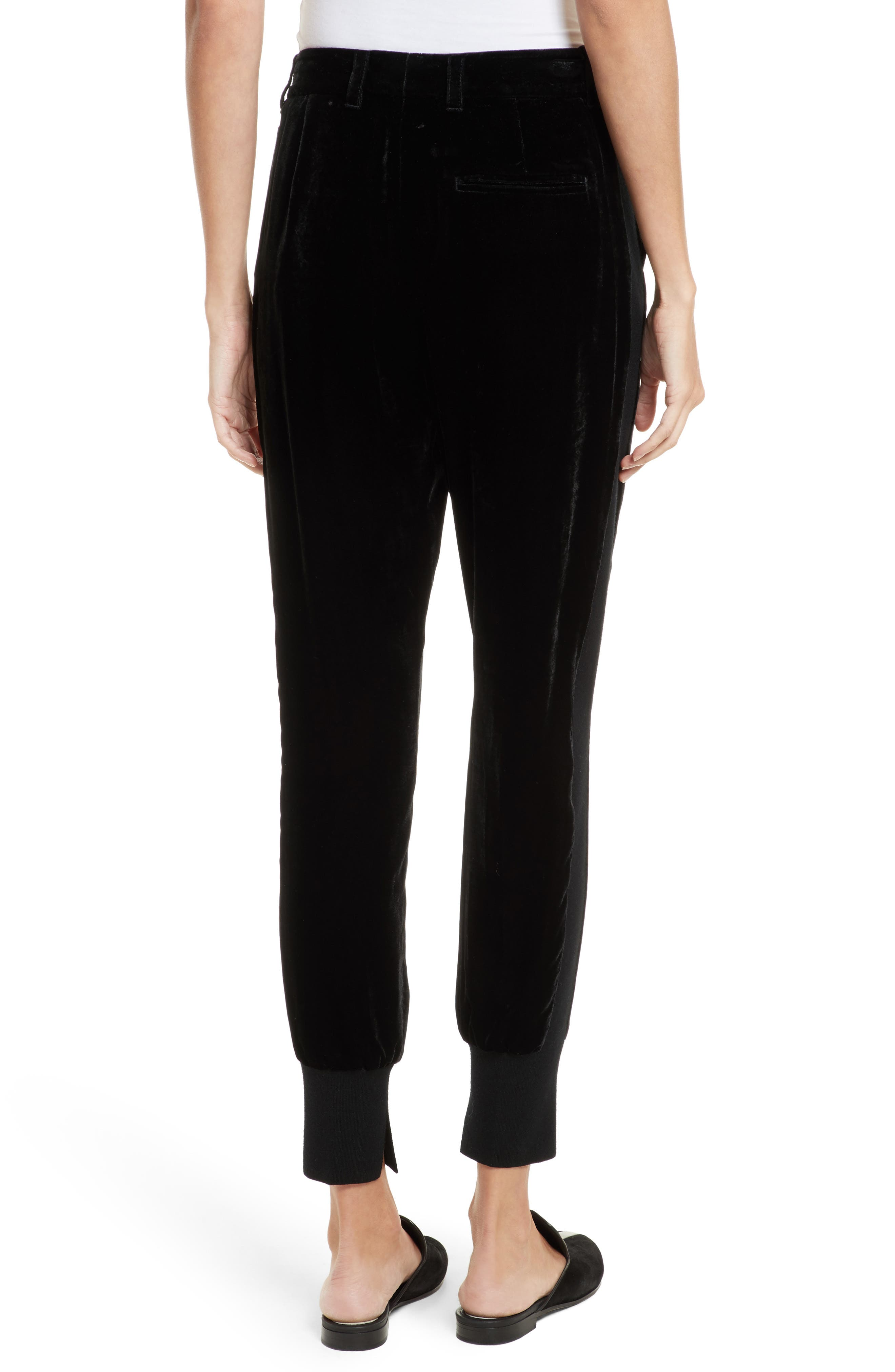 Velvet Jogger Pants,                             Alternate thumbnail 2, color,                             001