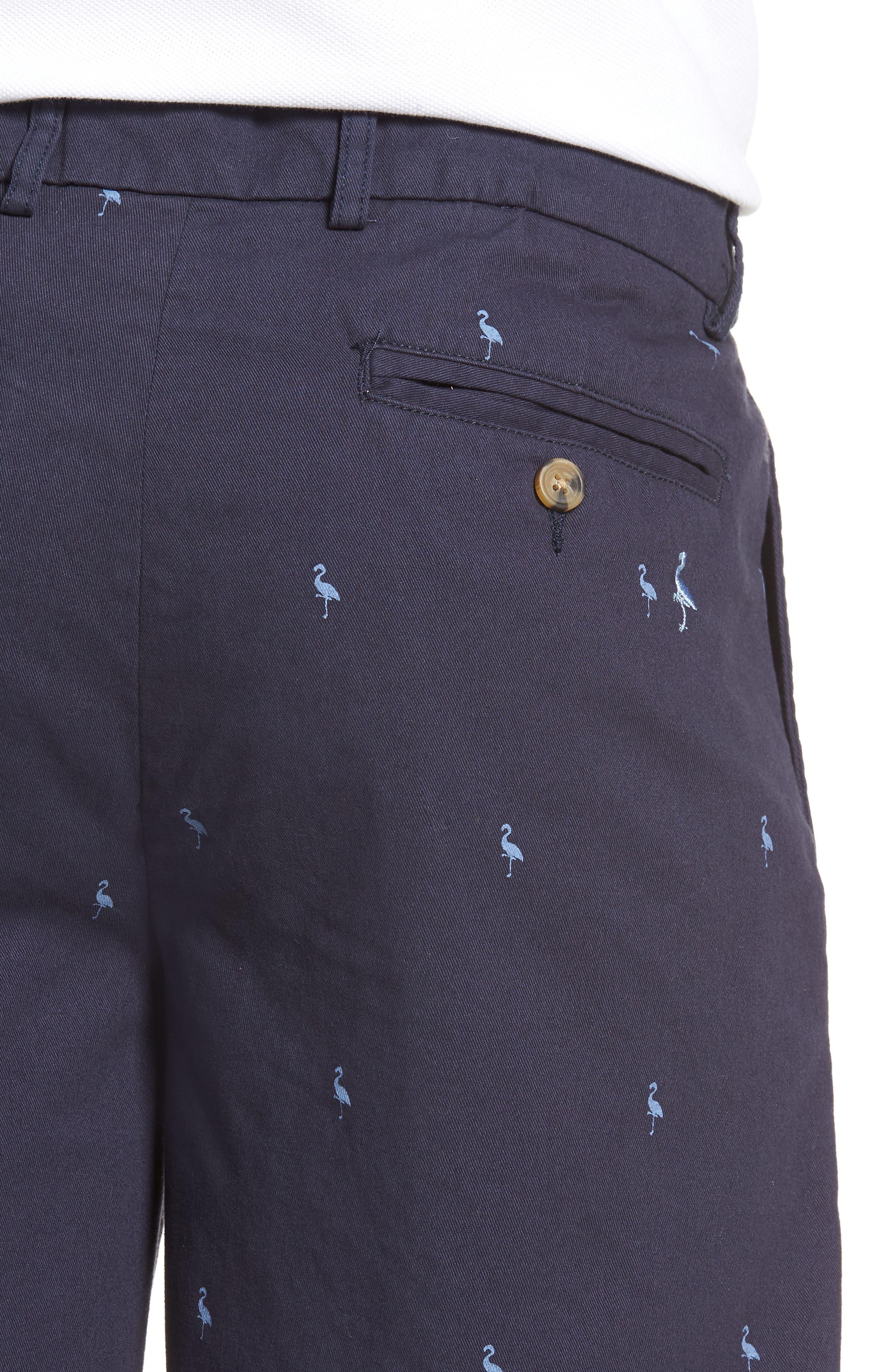 Barlow Bird Regular Fit Chino Shorts,                             Alternate thumbnail 4, color,                             404