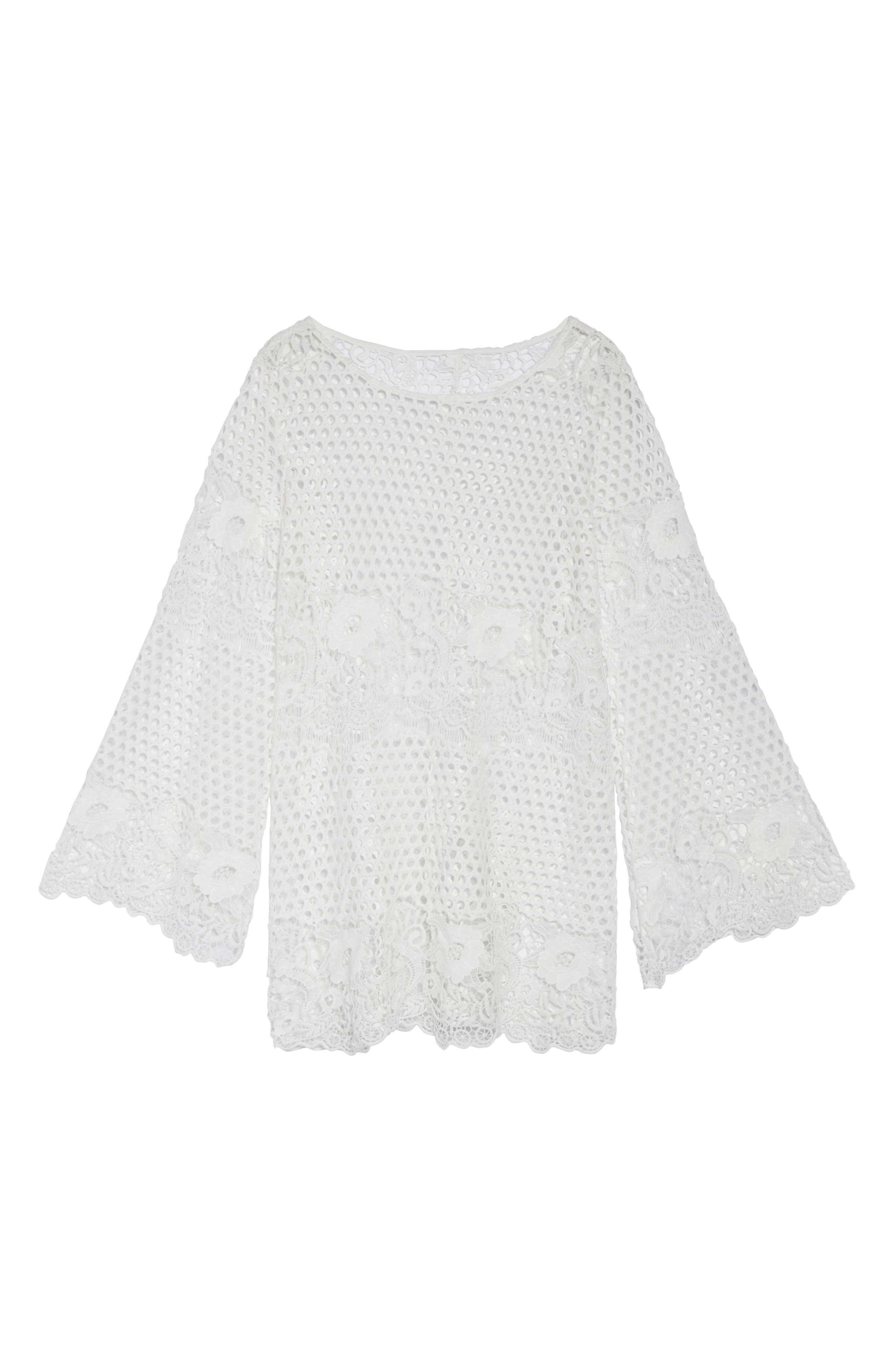 Crochet Cover-Up,                             Alternate thumbnail 6, color,                             100
