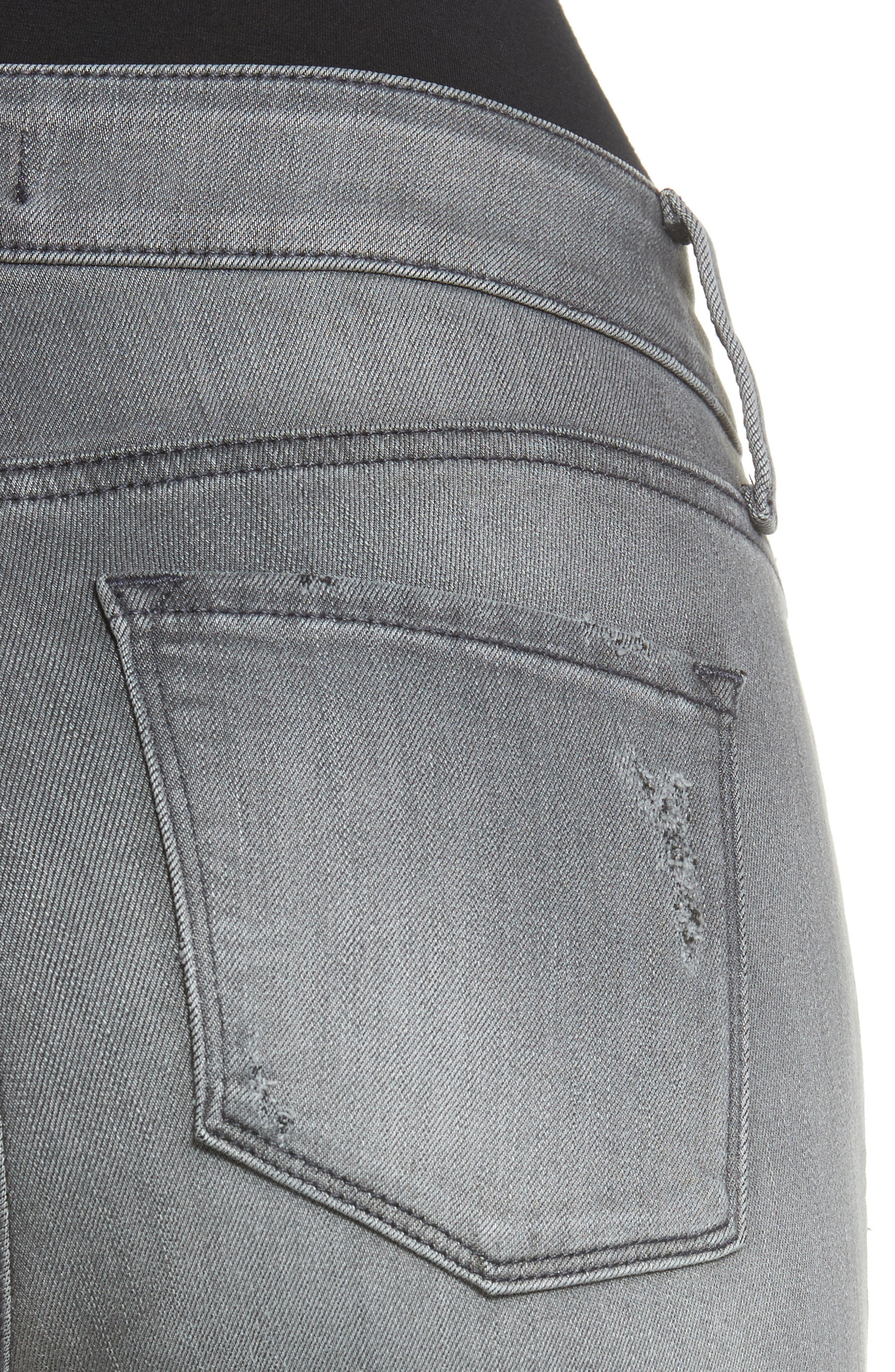 Ami Stretch Skinny Jeans,                             Alternate thumbnail 4, color,                             035