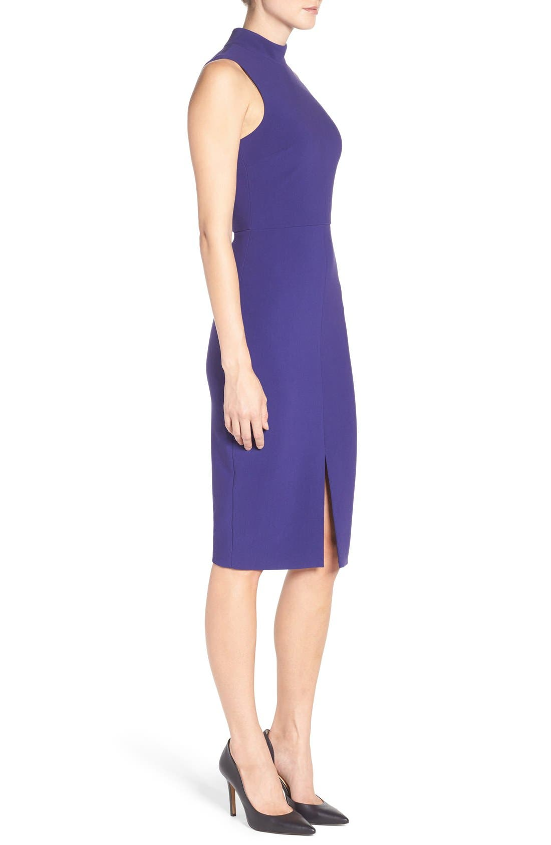 'Caldwell' Mock Neck Sheath Dress,                             Alternate thumbnail 3, color,                             533