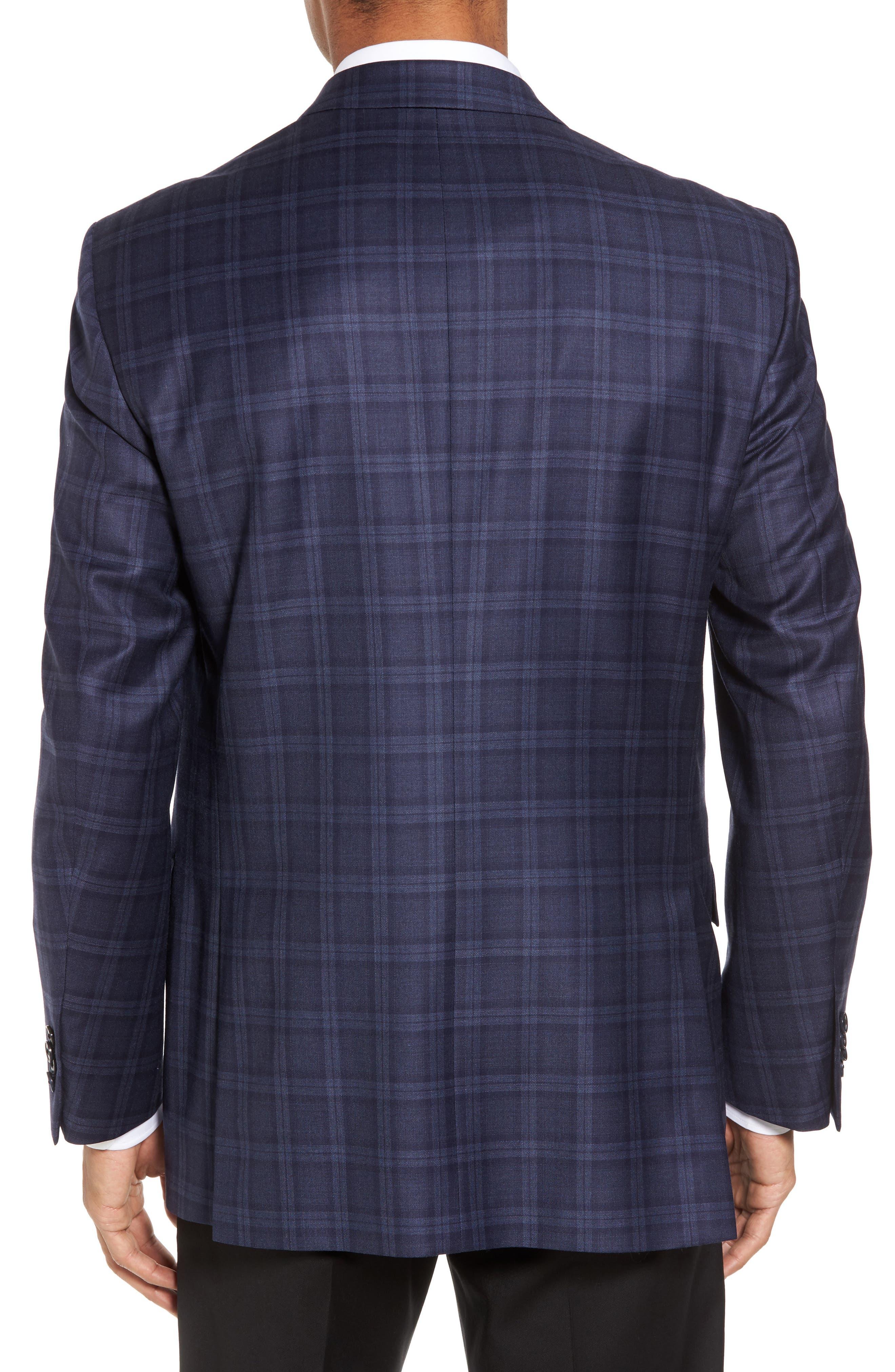 Classic Fit Windowpane Wool Sport Coat,                             Alternate thumbnail 2, color,