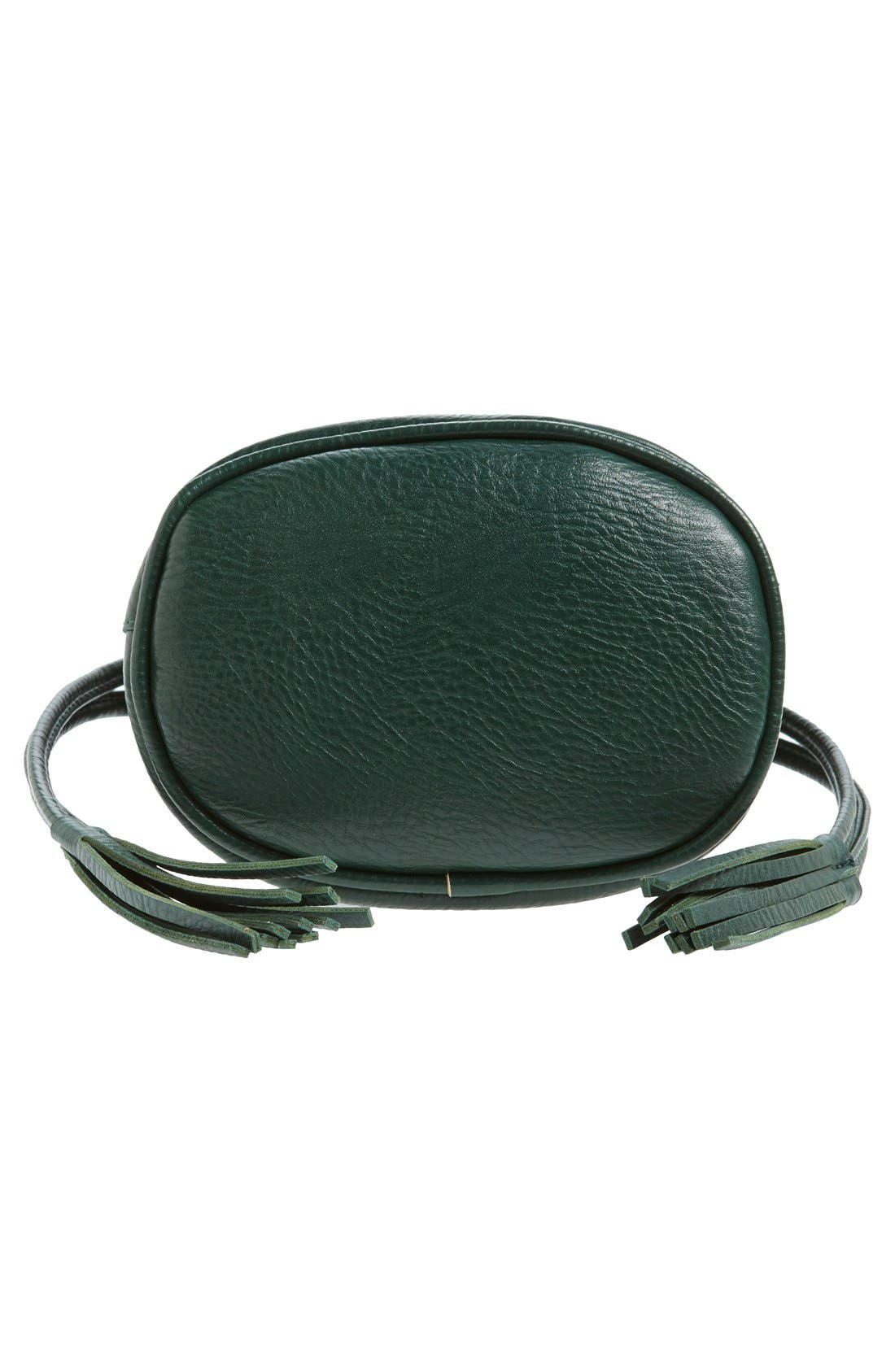 Mini Faux Leather Tassel Bucket Bag,                             Alternate thumbnail 29, color,
