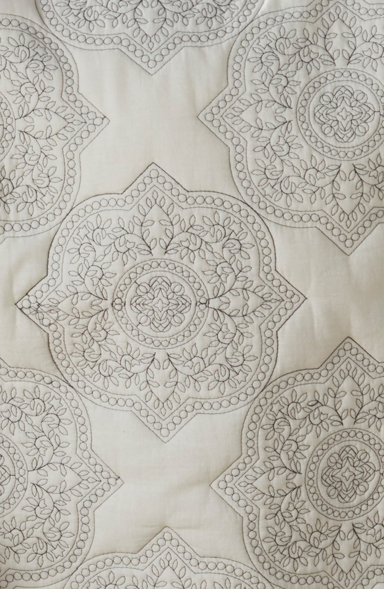 Ria Embroidered Quilt,                             Alternate thumbnail 2, color,                             IVORY