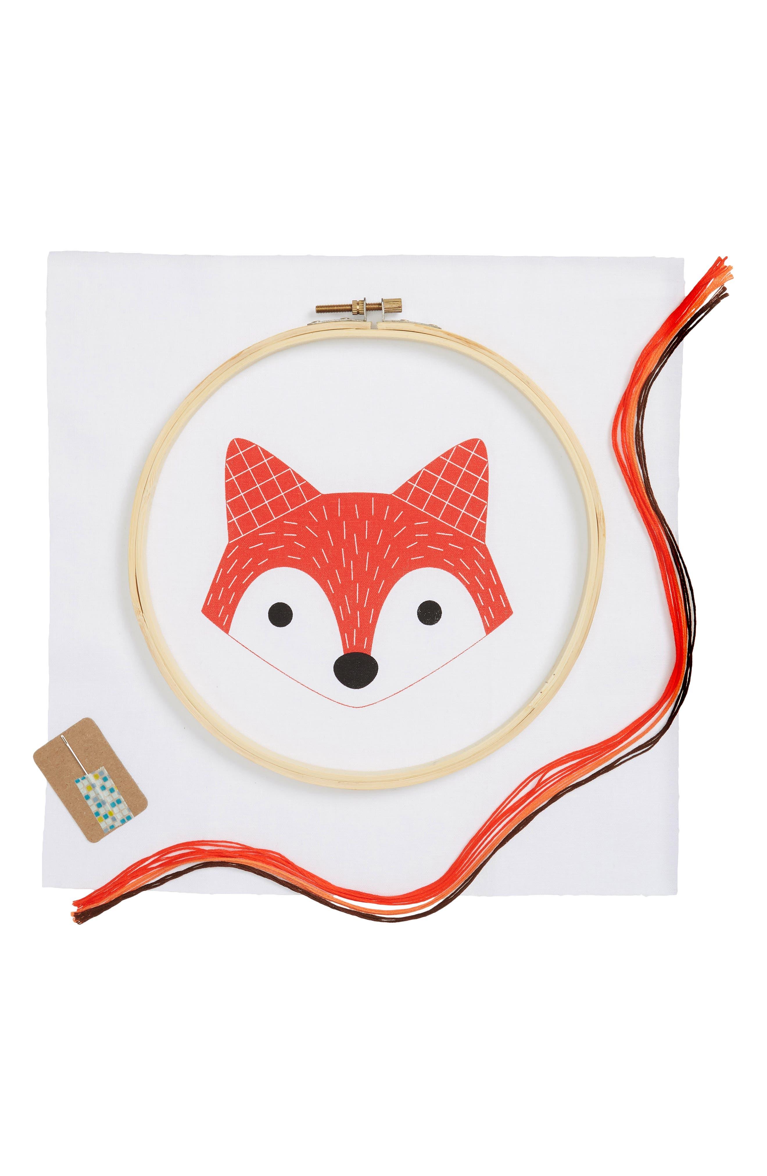 Animal Hoop Art Kit,                         Main,                         color, RED