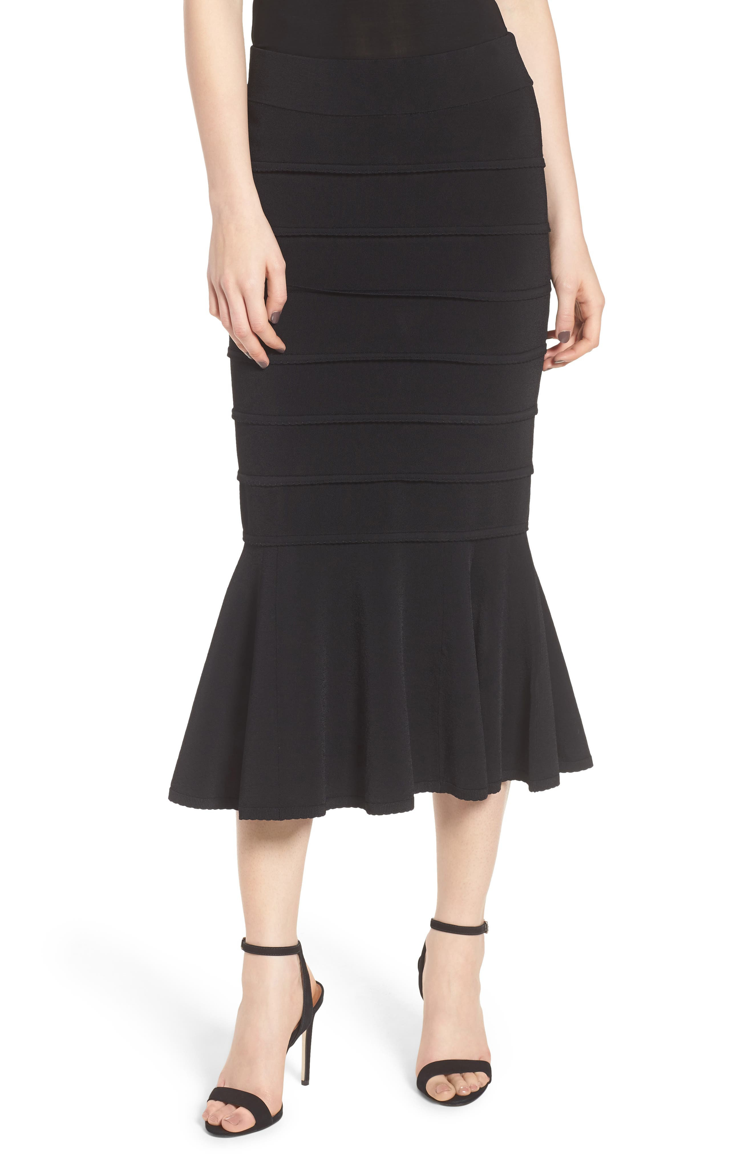 CHELSEA28,                             Trumpet Skirt,                             Main thumbnail 1, color,                             001