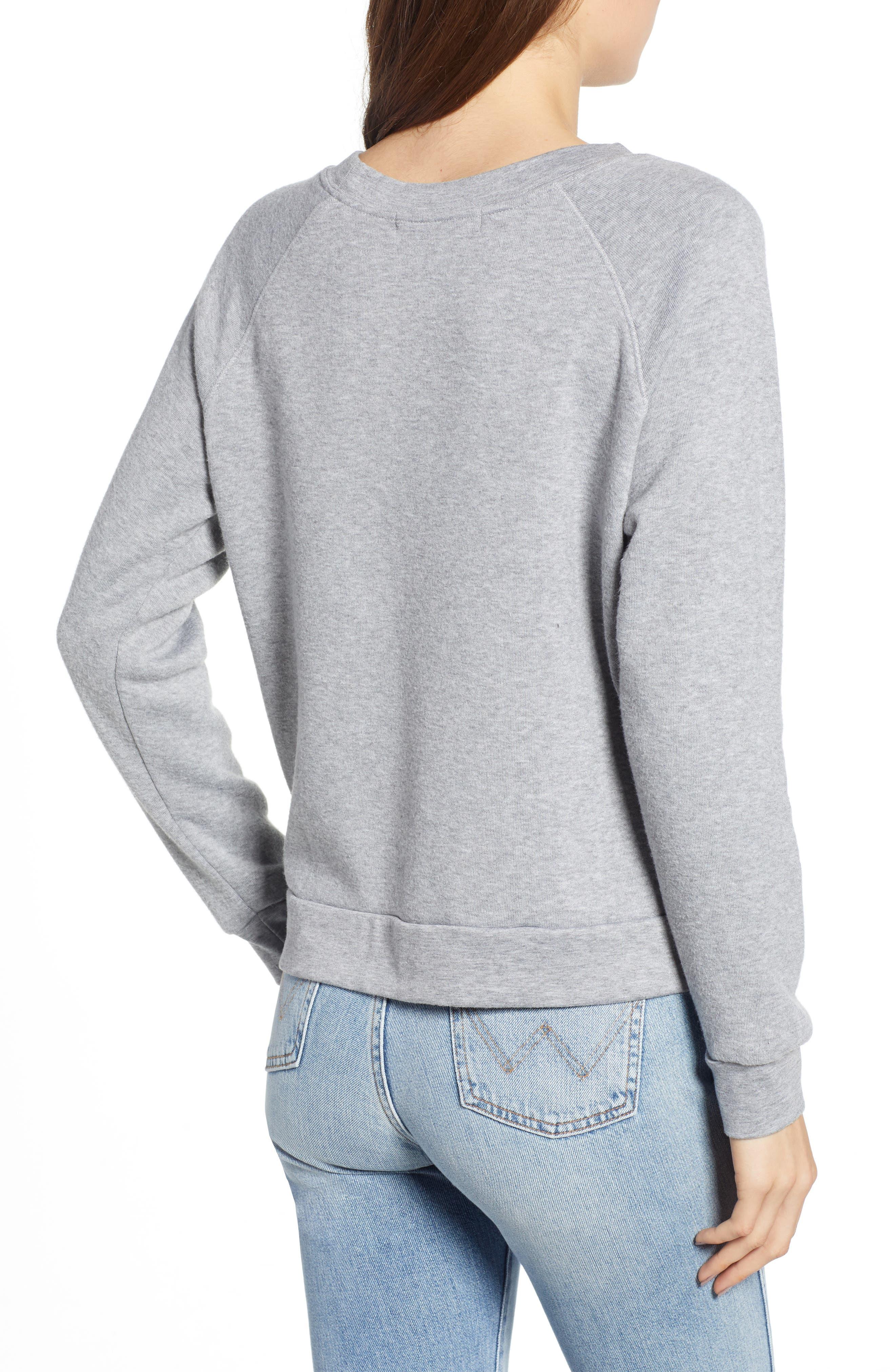Reversible Graphic Sweatshirt,                             Alternate thumbnail 3, color,                             HEATHER GREY