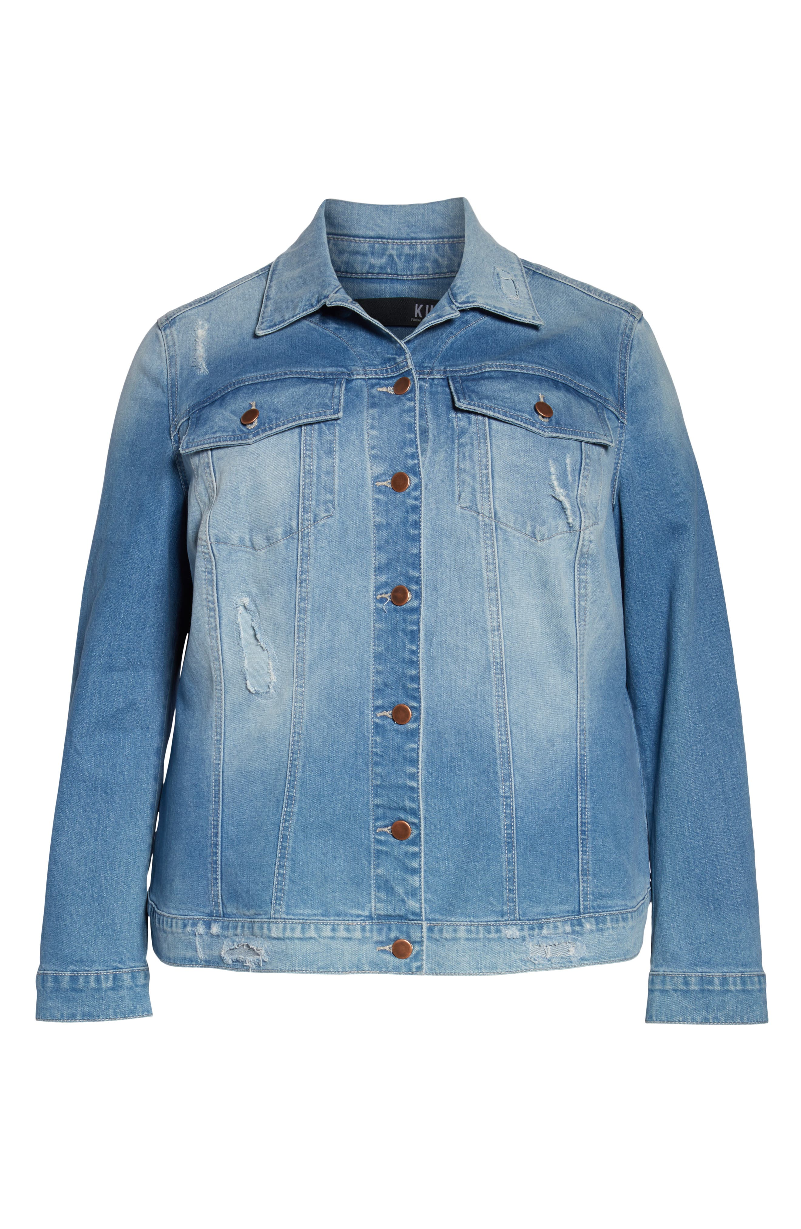 KUT FROM THE KLOTH,                             Lily Basic Denim Jacket,                             Alternate thumbnail 6, color,                             ADORN