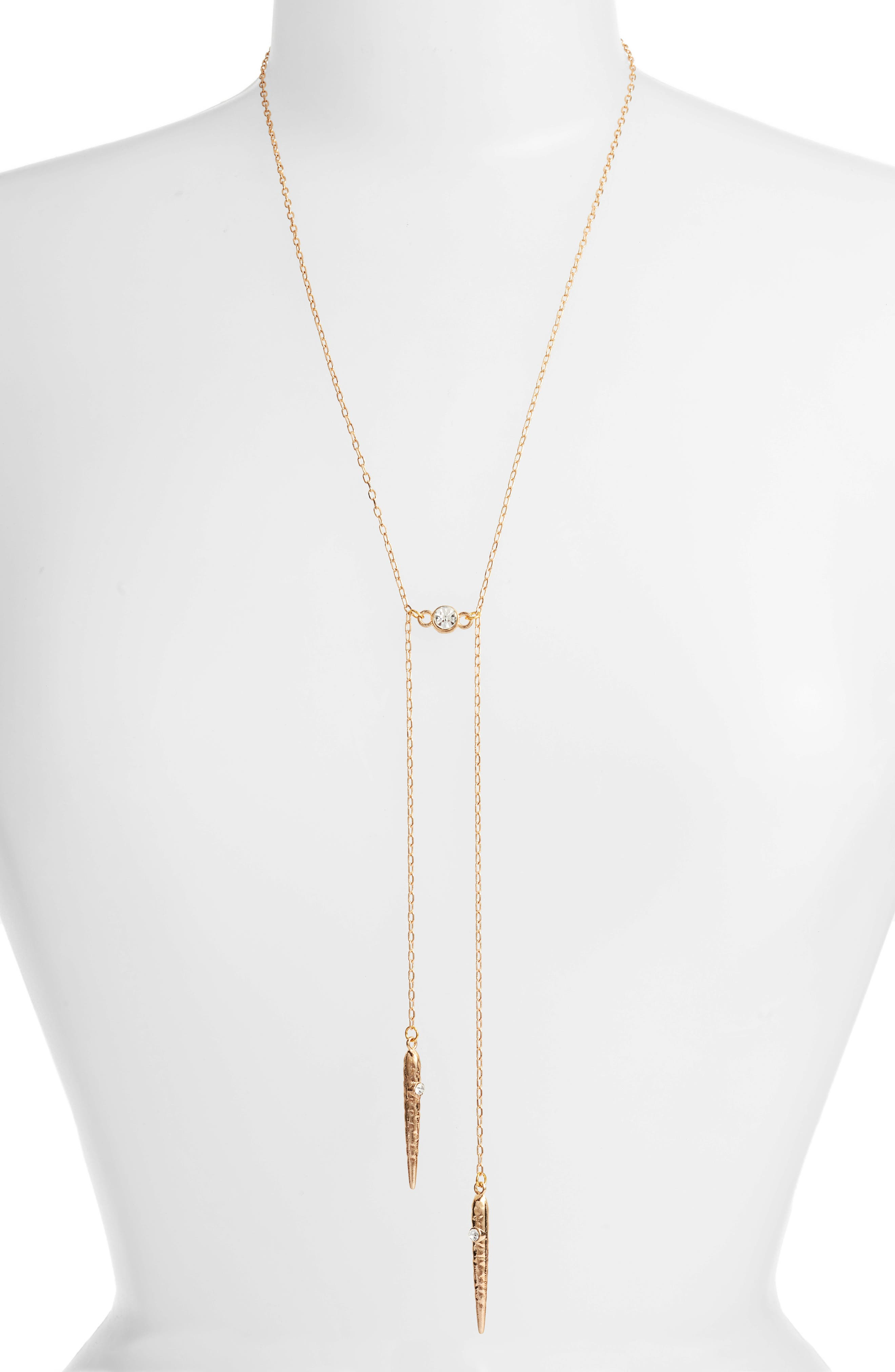 Cherrelle Bolo Necklace, Main, color, GOLD