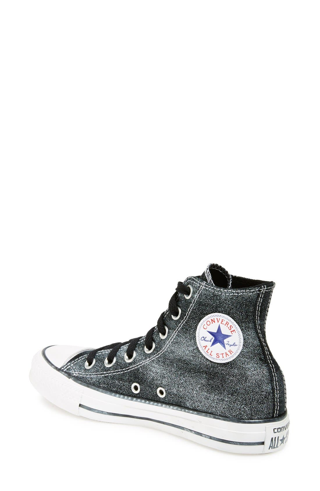 Chuck Taylor<sup>®</sup> All Star<sup>®</sup> 'Sparkle Wash' High Top Sneaker,                             Alternate thumbnail 4, color,                             001
