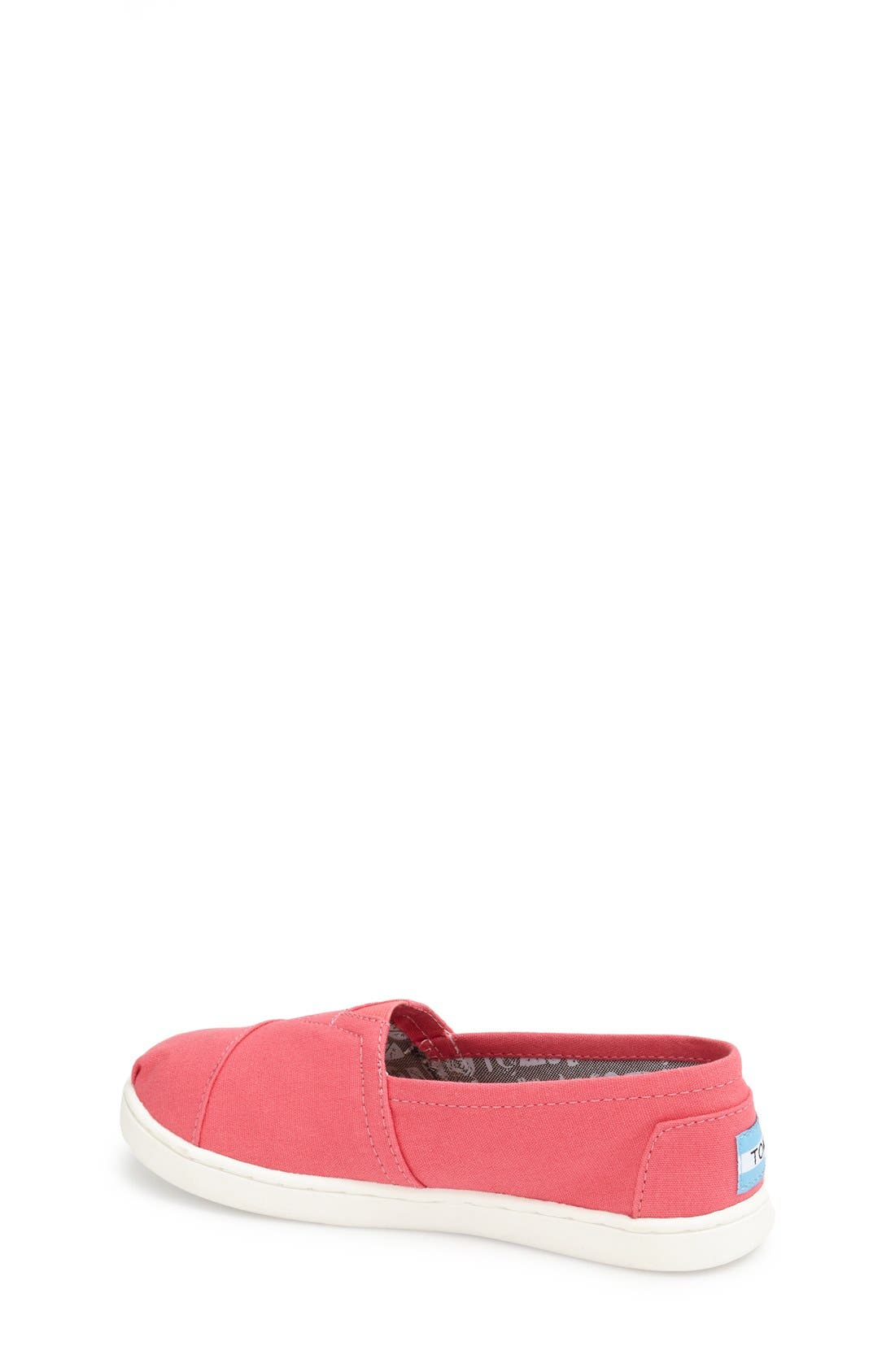 'Classic - Youth' Slip-On,                             Alternate thumbnail 2, color,                             MEDIUM PINK