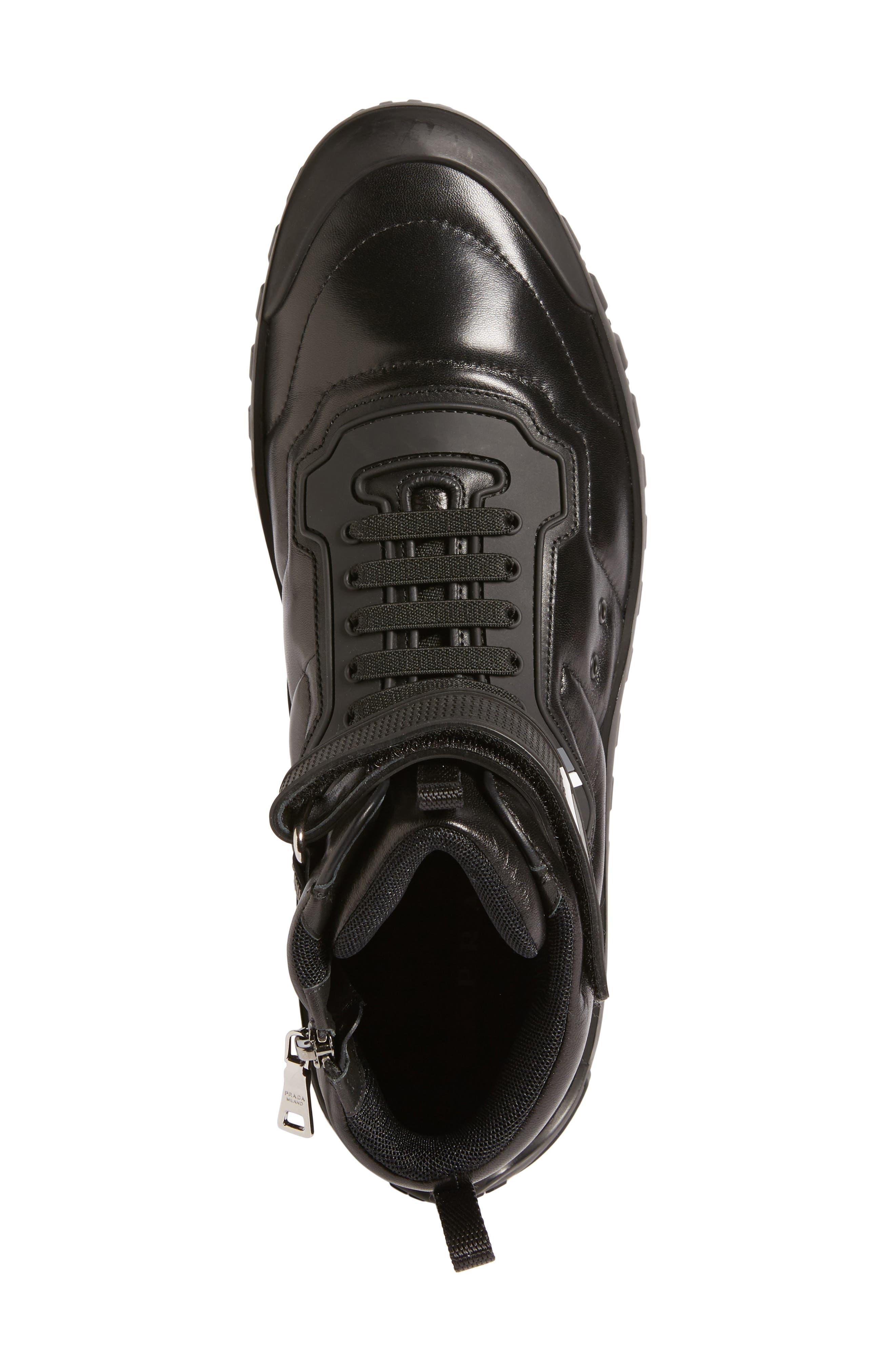 Tech Strap Sneaker,                             Alternate thumbnail 5, color,                             001